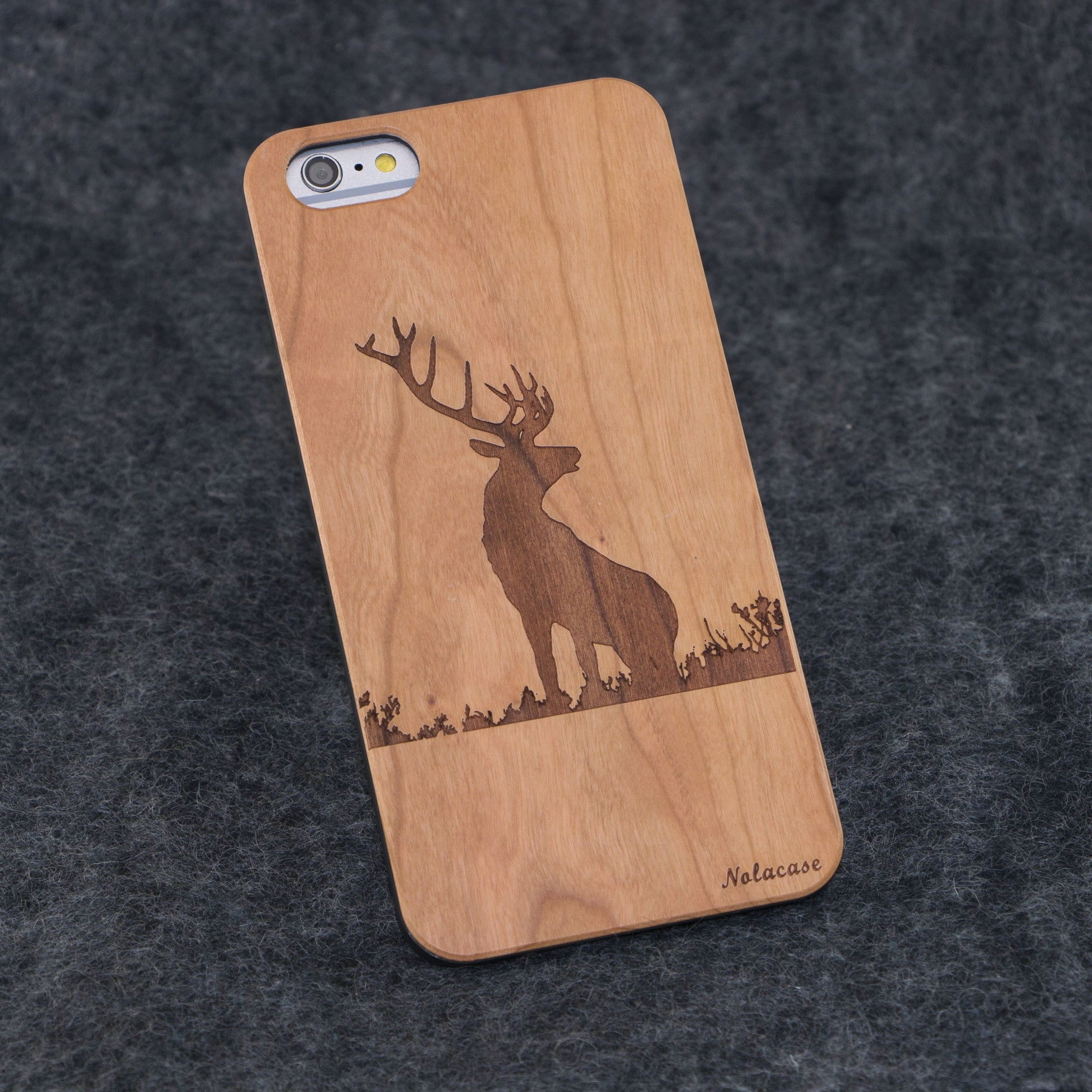 iPhone 6+ / 6S+ Deer Slim Wood Case - NOLACASE