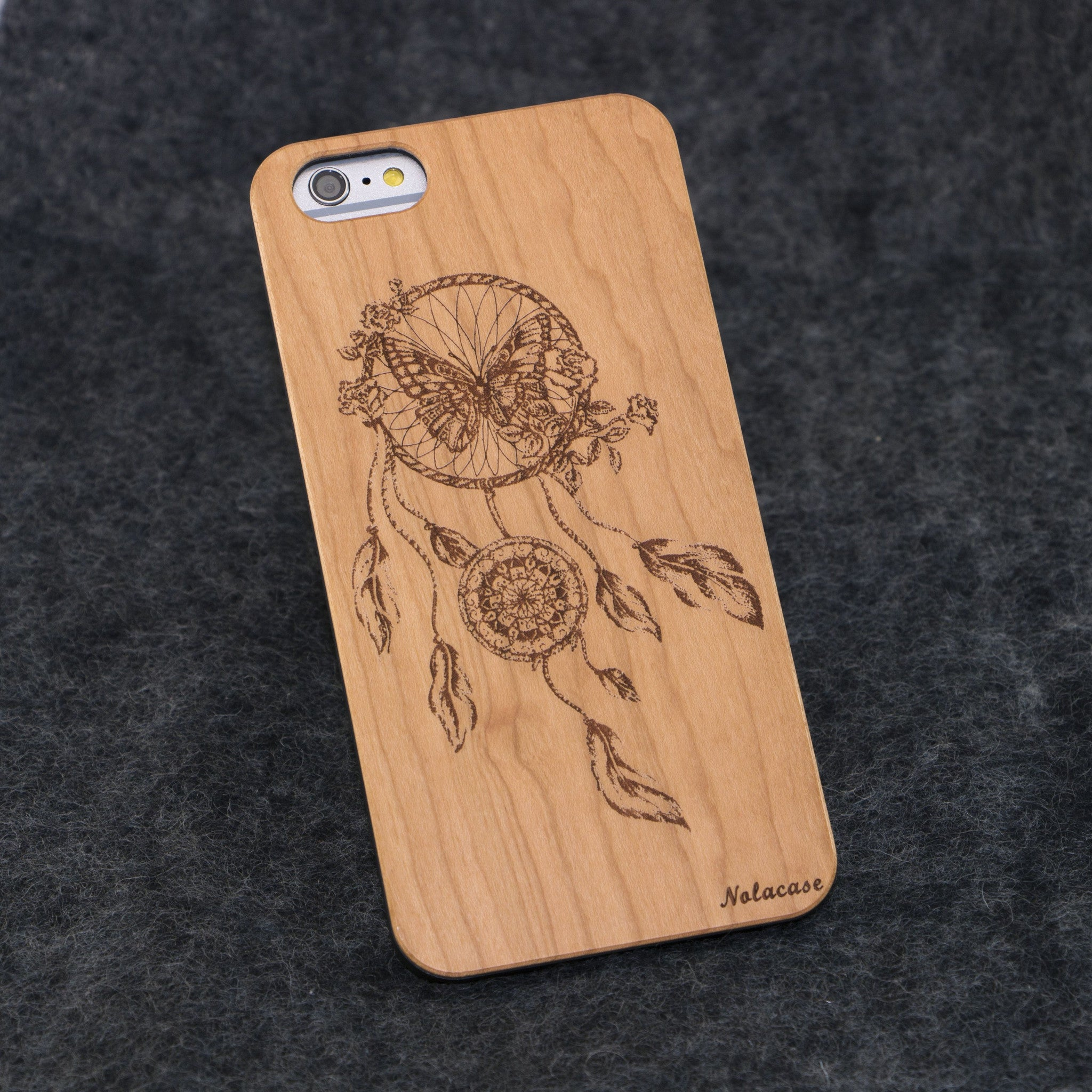 iPhone 6+ / 6S+ Dream Catcher with Butterfly Slim Wood Case - NOLACASE