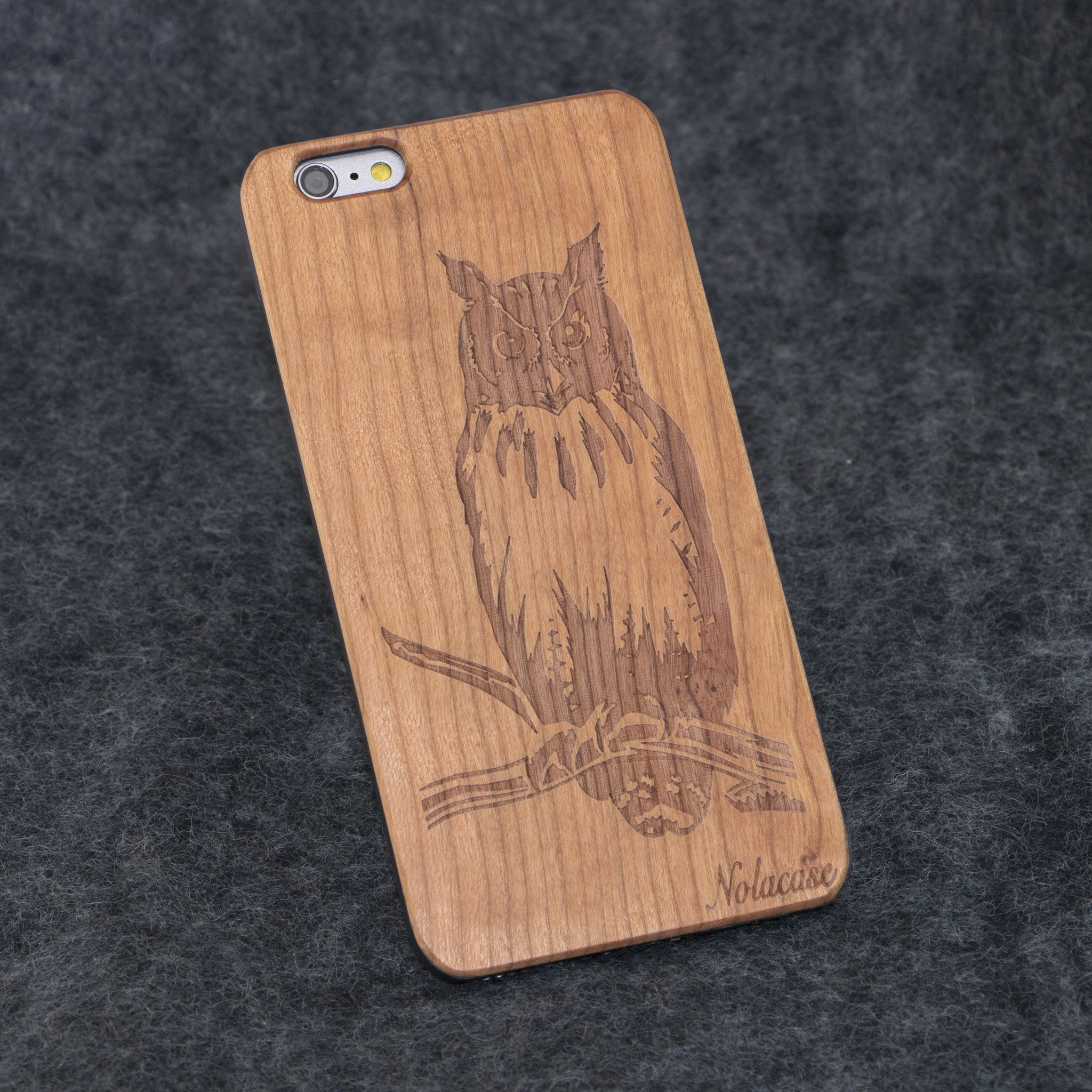 iPhone 6+ Owl Slim Wood Case - NOLACASE - 1