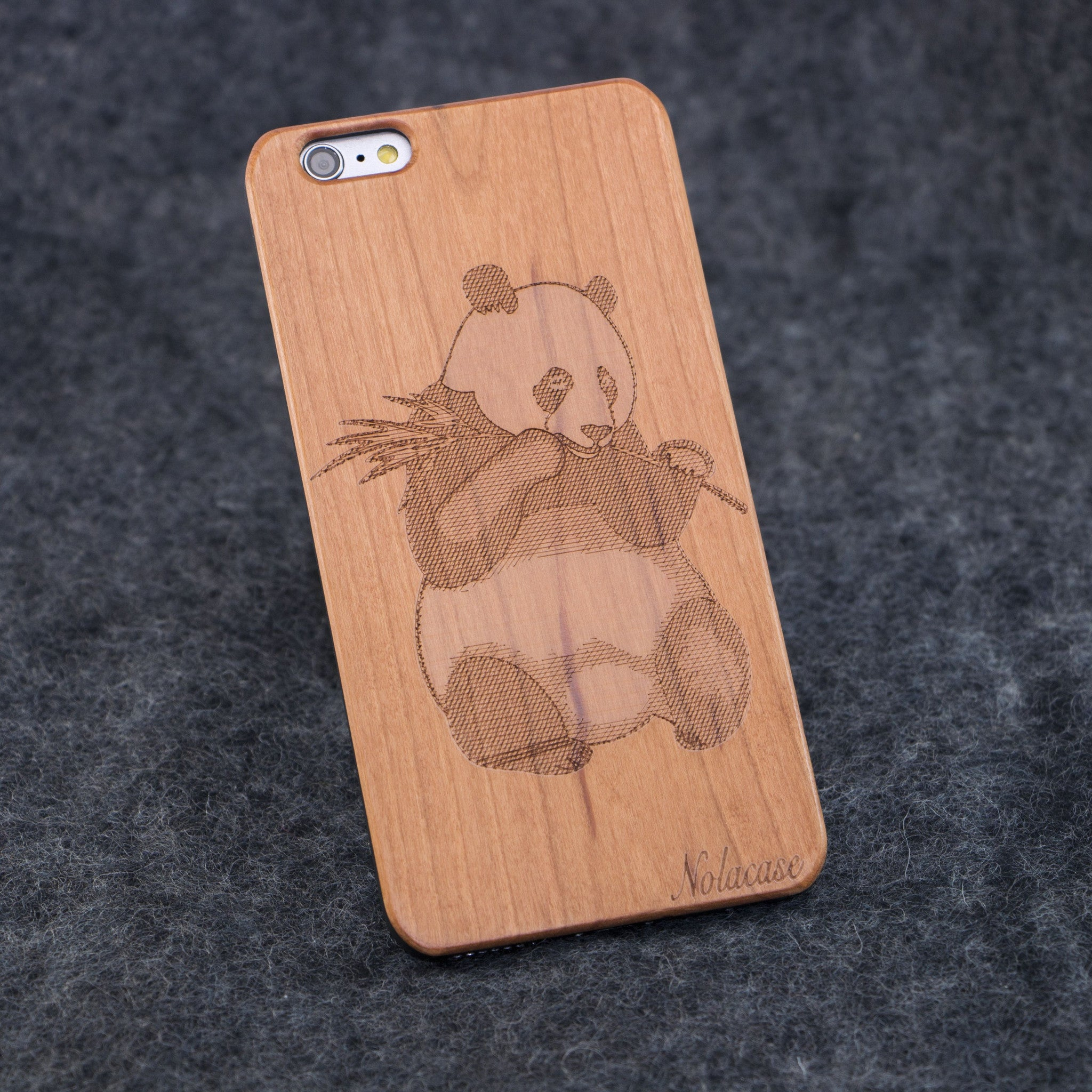 iPhone 6+ Panda Slim Wood Case - NOLACASE - 1