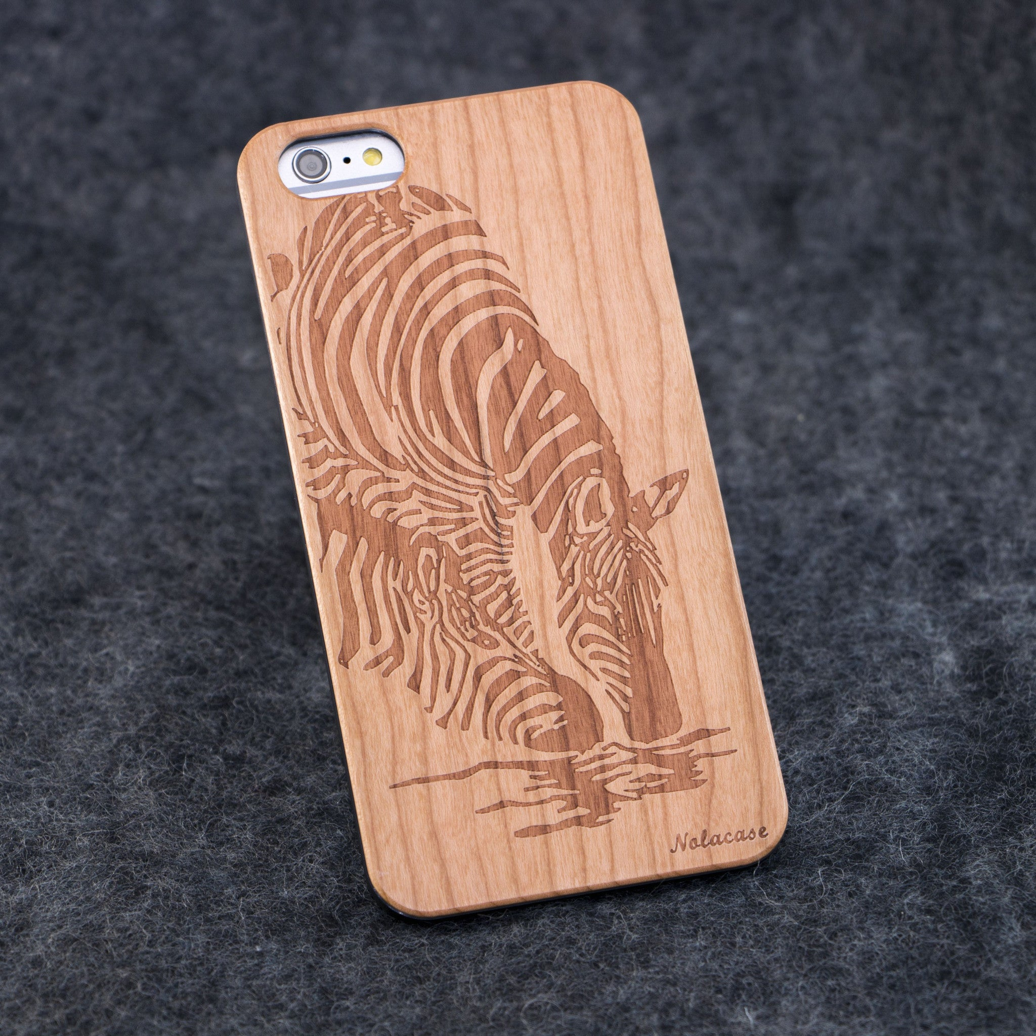 iPhone 6+ Zebra Slim Wood Case - NOLACASE - 1