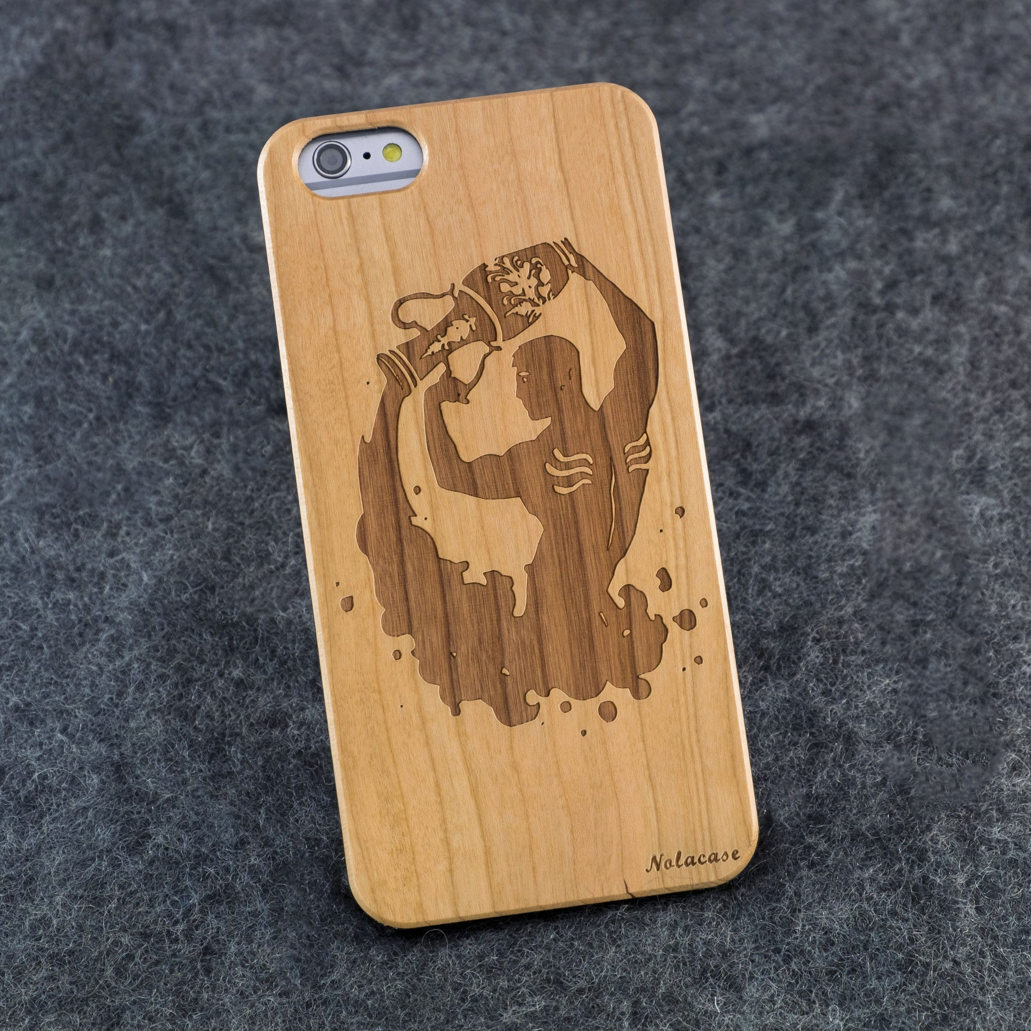 iPhone 6+ / 6S+ Zodiac Signs: Aquarius Slim Wood Case - NOLACASE