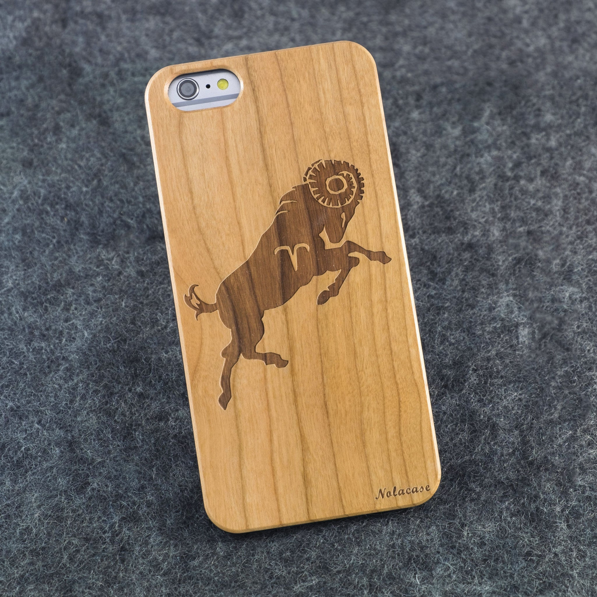 iPhone 6+ / 6S+ Zodiac Signs: Aries Slim Wood Case - NOLACASE