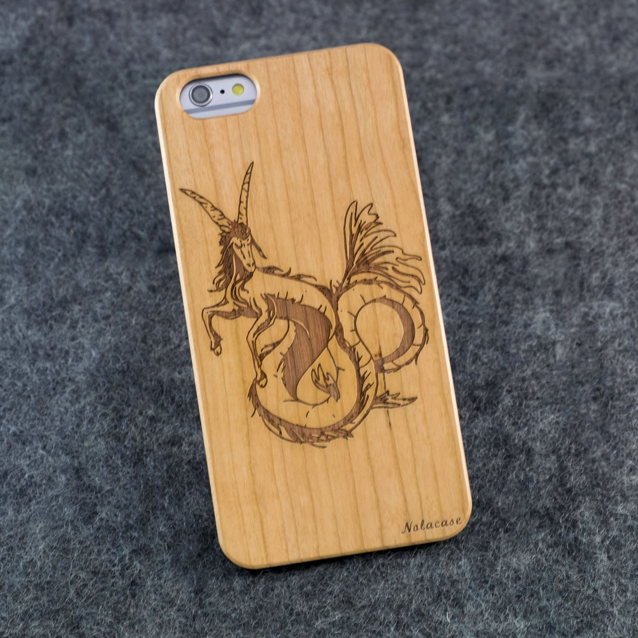 iPhone 6+ / 6S+ Zodiac Signs: Capricorn Slim Wood Case - NOLACASE