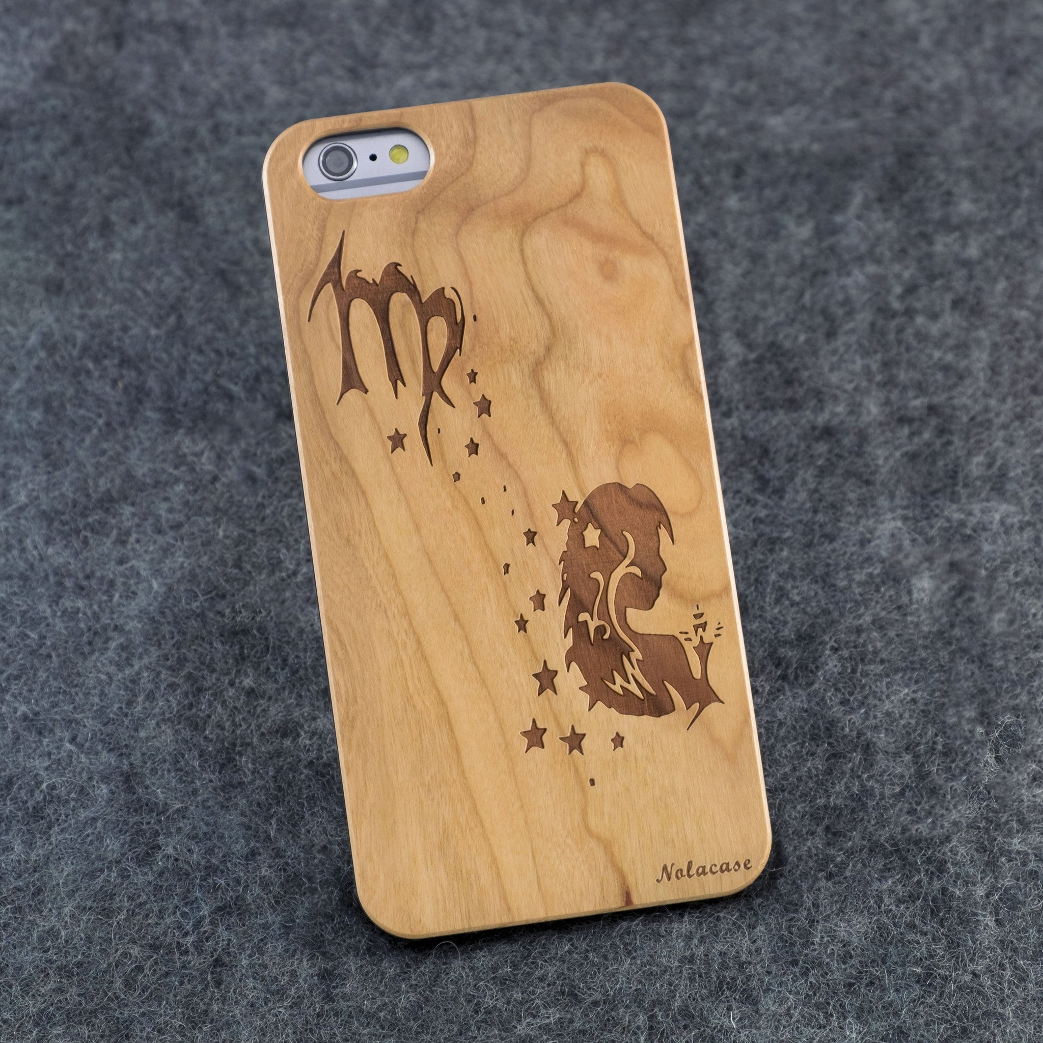 iPhone 6+ / 6S+ Zodiac Signs: Virgo Slim Wood Case - NOLACASE