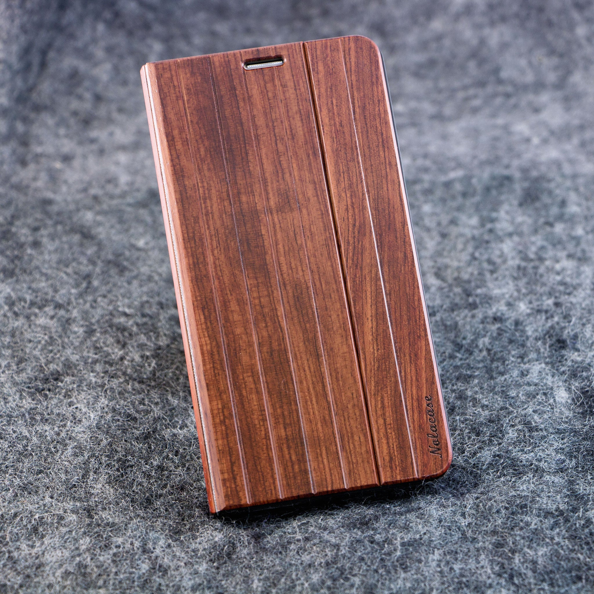 Samsung NOTE 5 Walnut Flip Wood Case - NOLACASE - 1