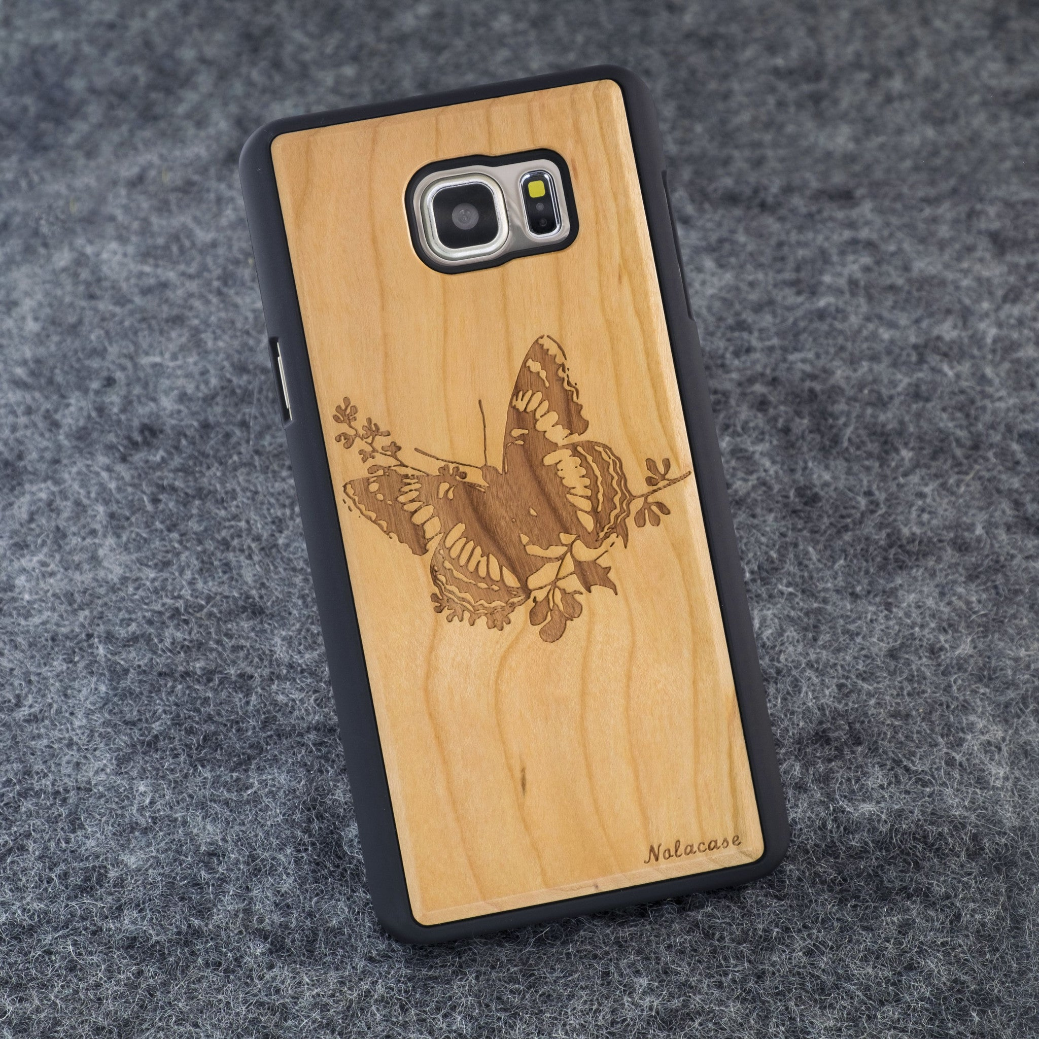 Samsung Note 5 Butterfly Slim Wood Case - NOLACASE