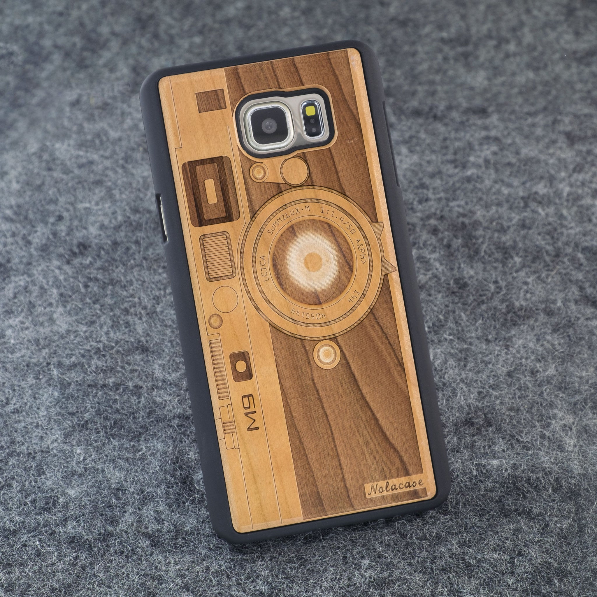 Samsung Note 5 M9 Camera Slim Wood Case - NOLACASE