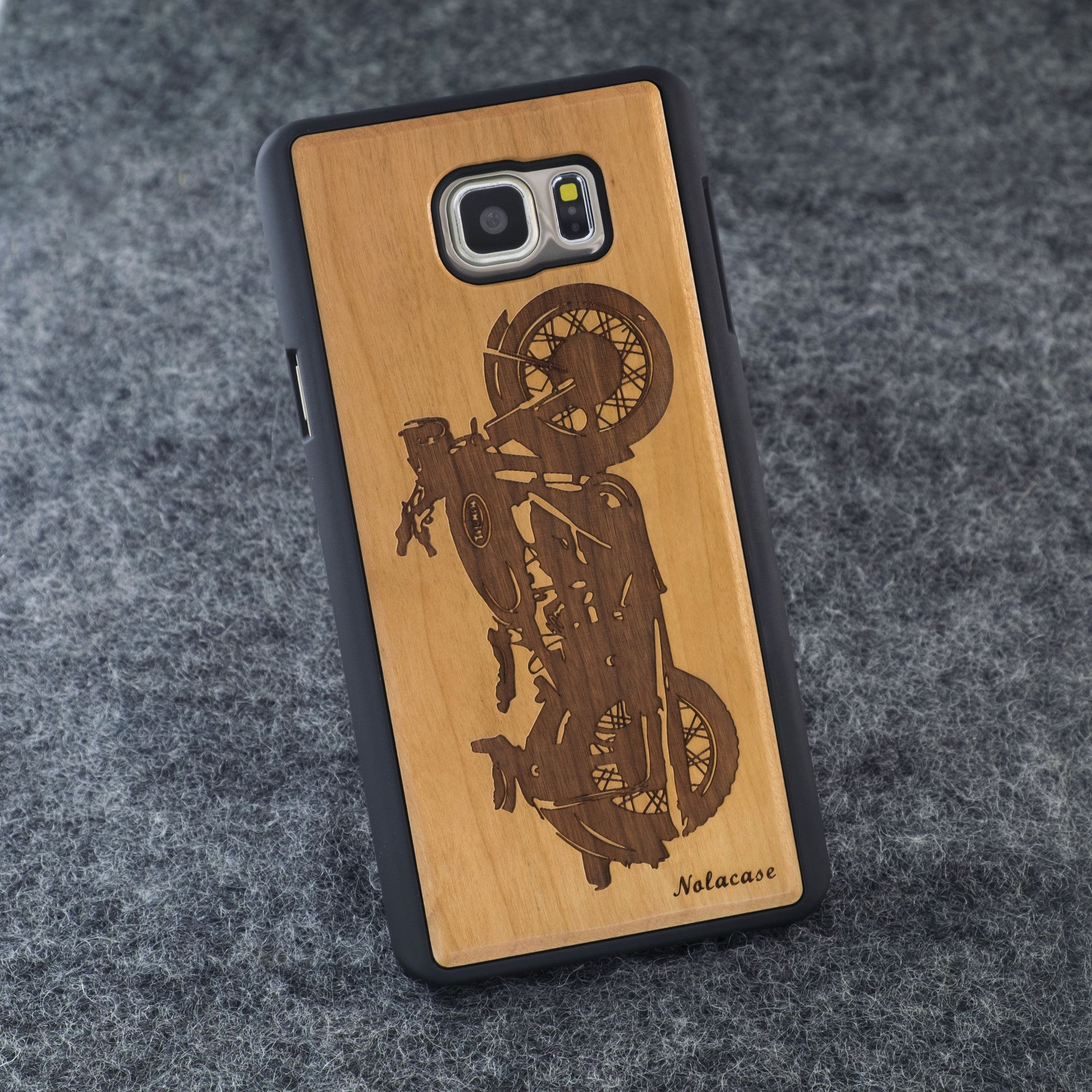 Samsung Note 5 Motorcycle Slim Wood Case - NOLACASE