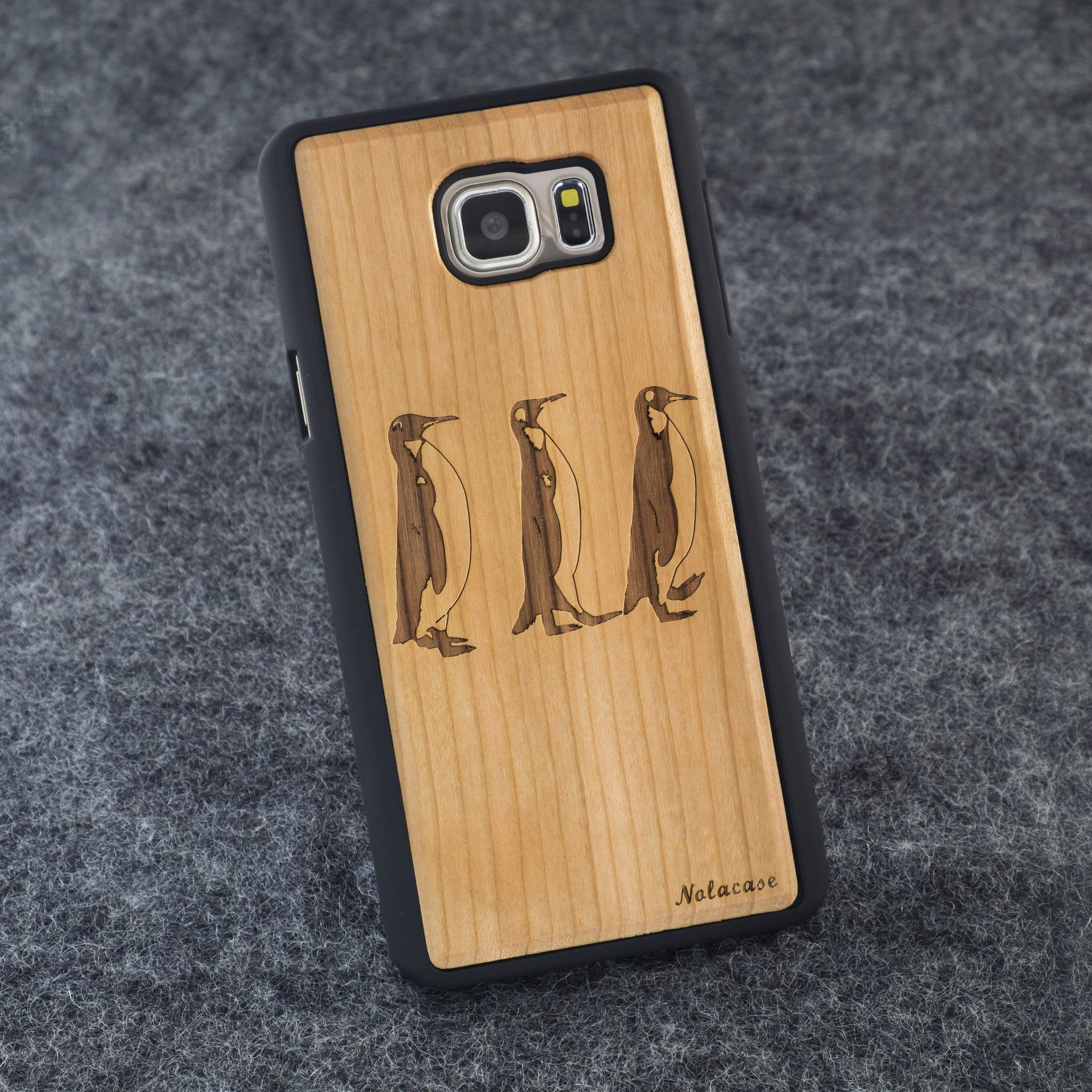 Samsung Note 5 Penguins Slim Wood Case - NOLACASE