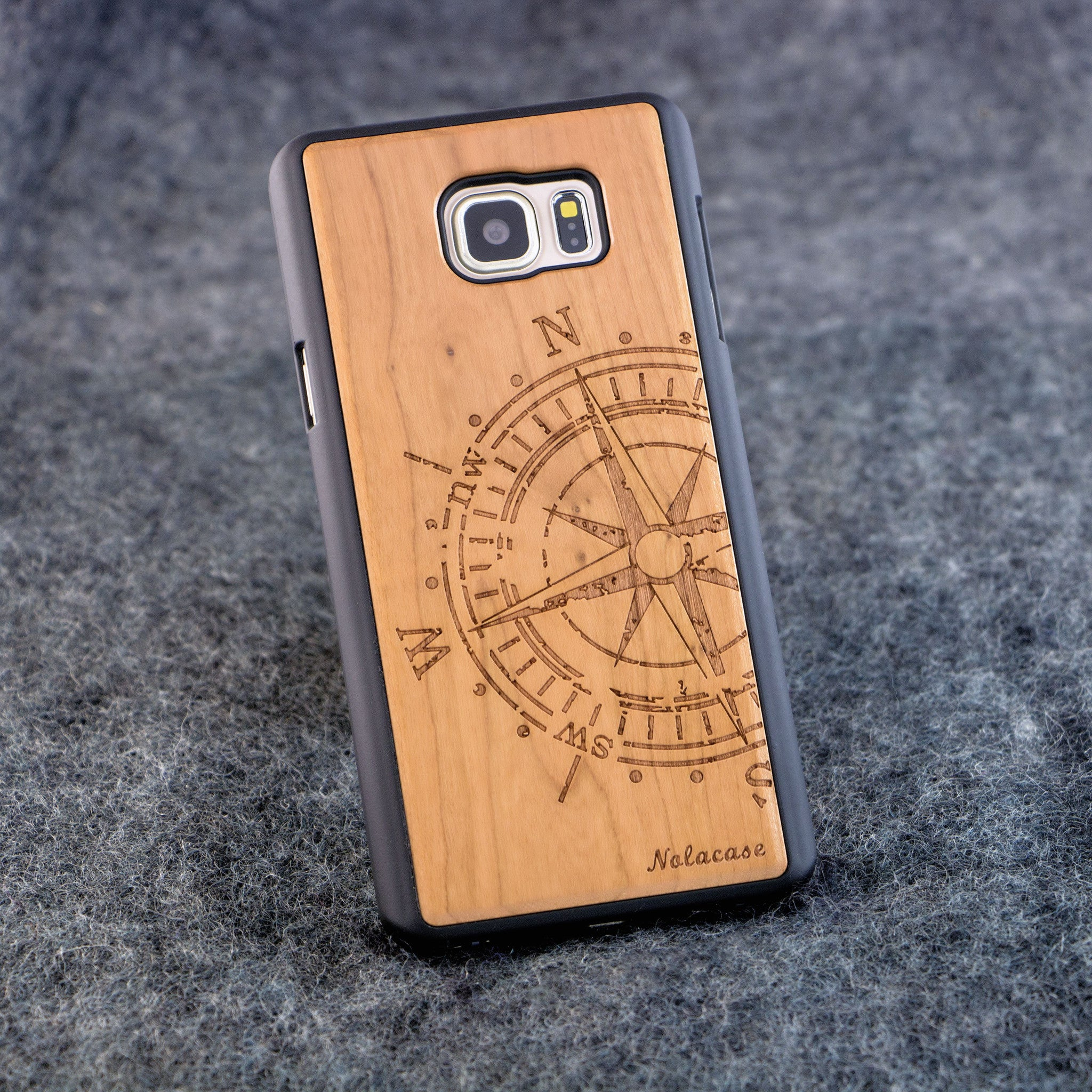 Samsung Note 5 Big Compass Slim Wood Case - NOLACASE