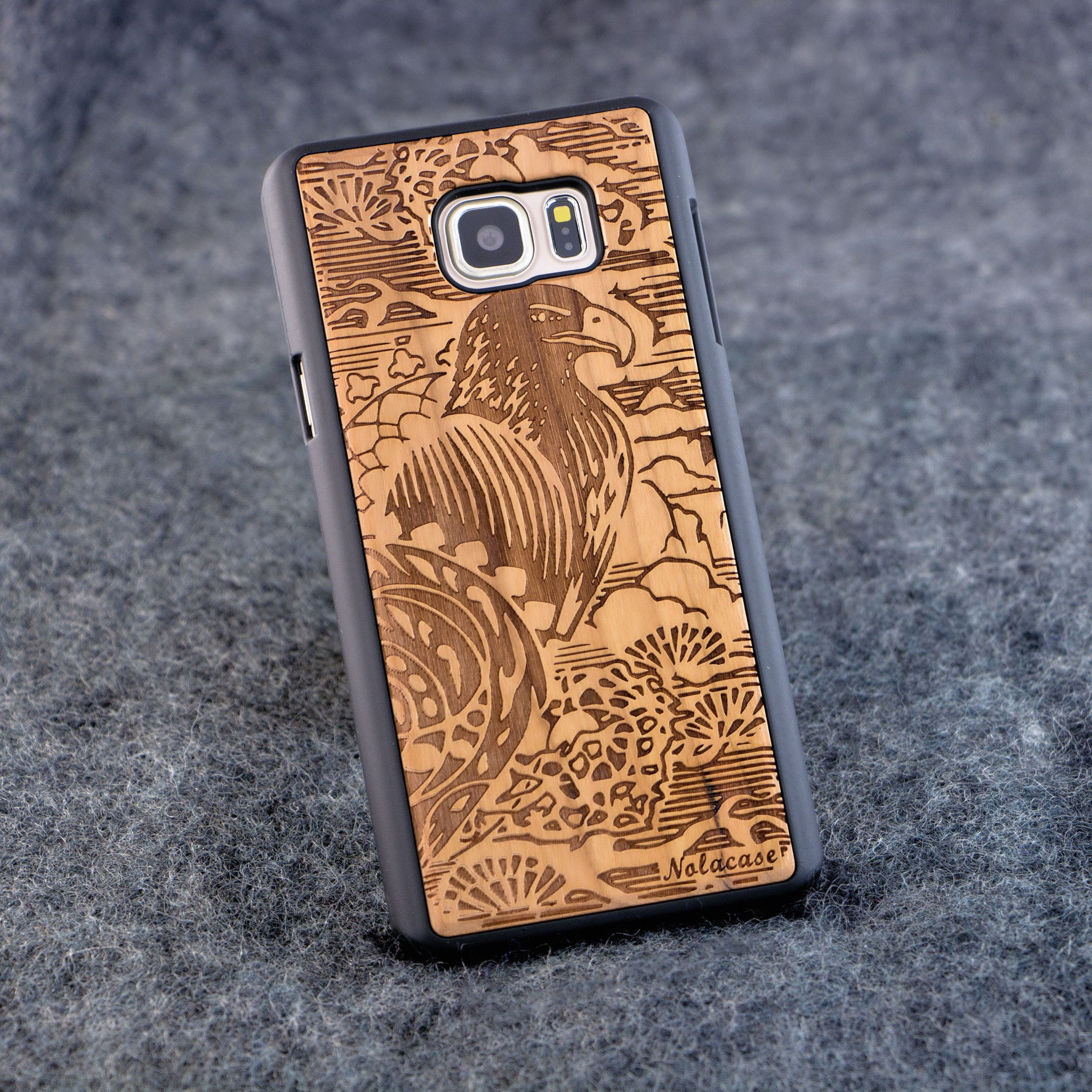 Samsung Note 5 Eagle Slim Wood Case - NOLACASE