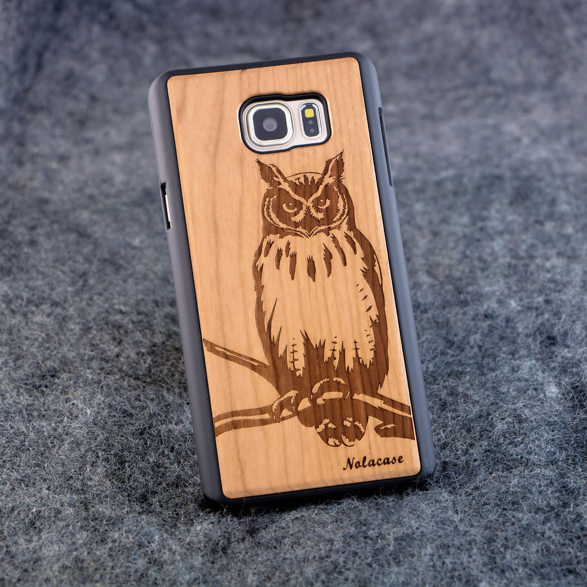 Samsung Note 5 Owl Slim Wood Case - NOLACASE