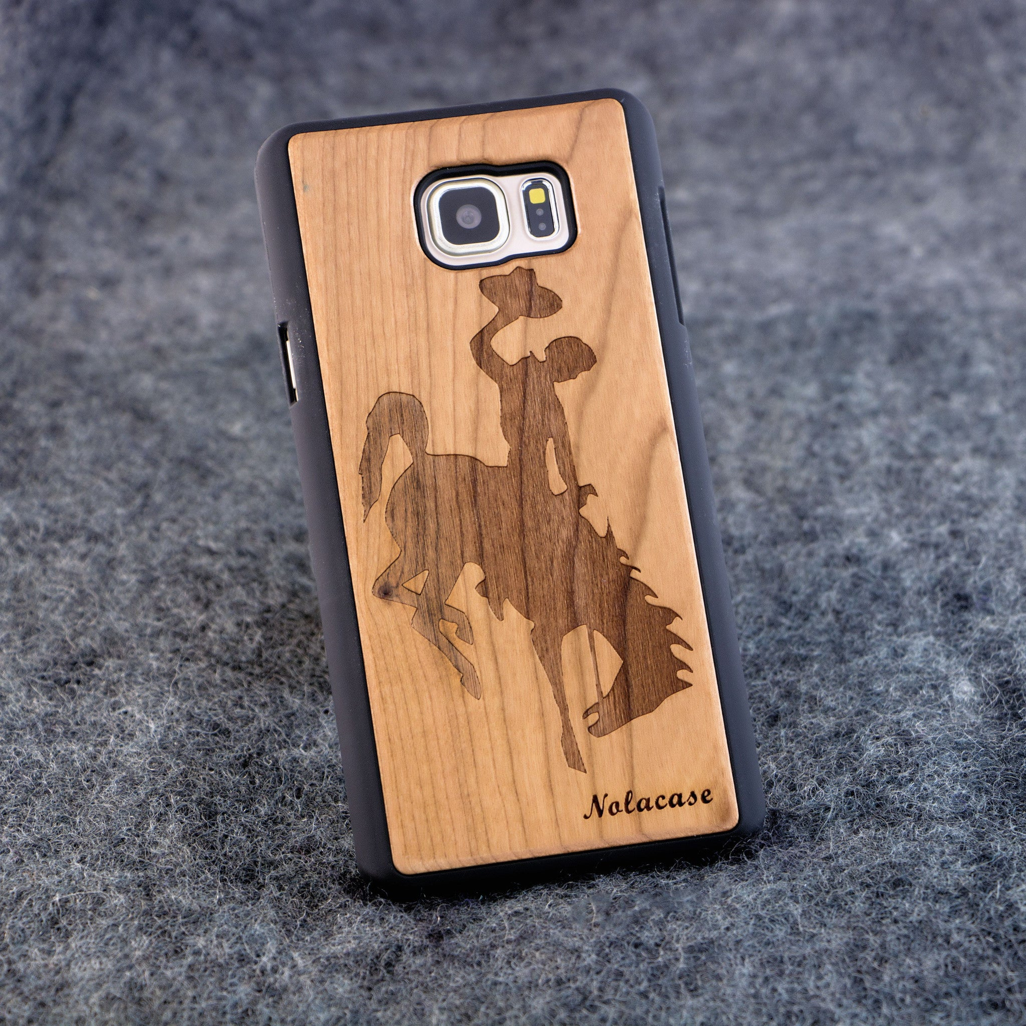 Samsung Note 5 Rodeo Slim Wood Case - NOLACASE