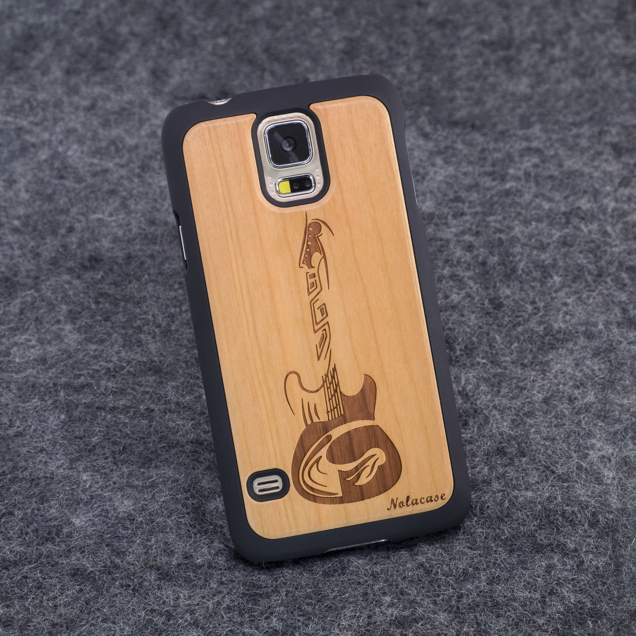 Samsung S5 Guitar Slim Wood Case - NOLACASE