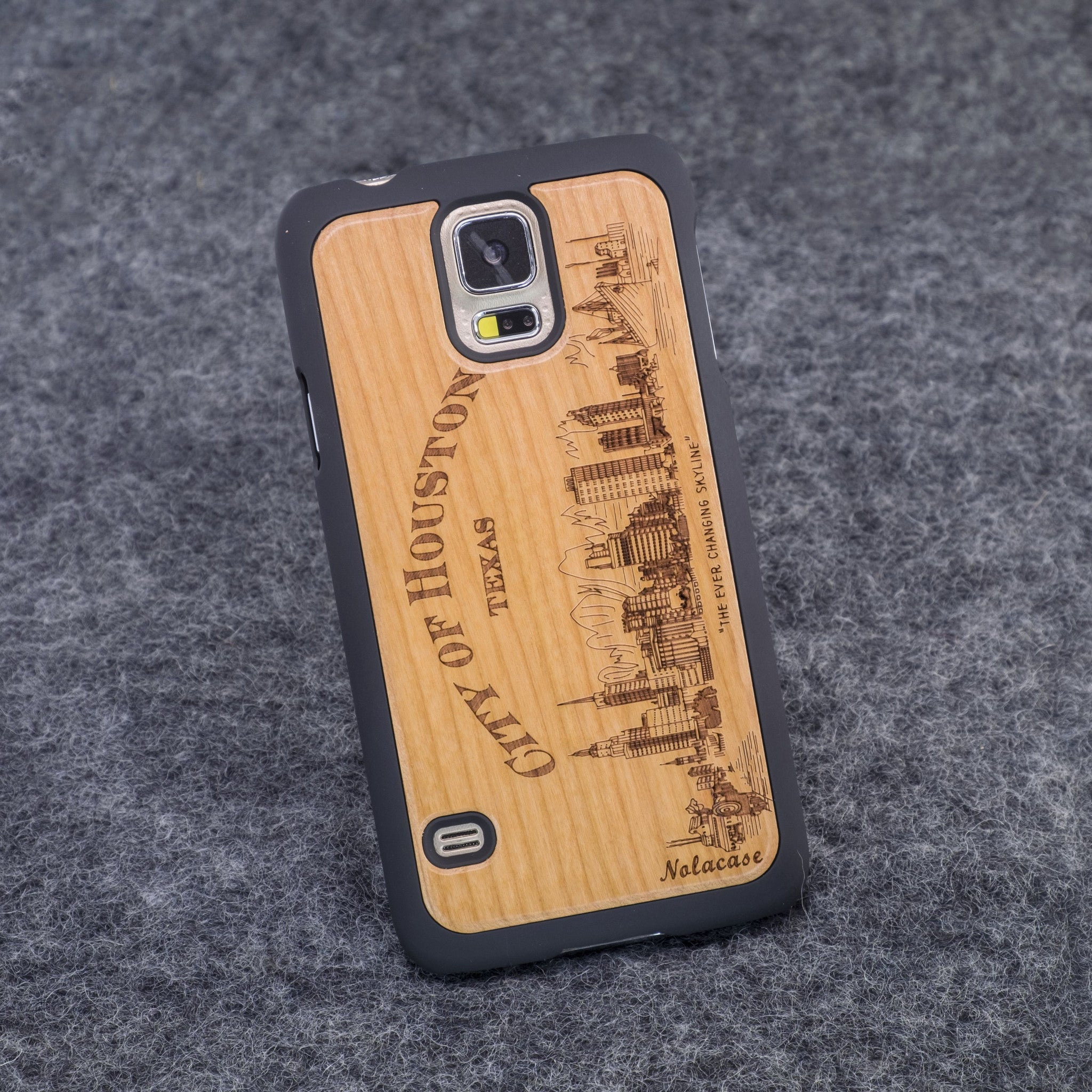 Samsung S5 Houston Slim Wood Case - NOLACASE