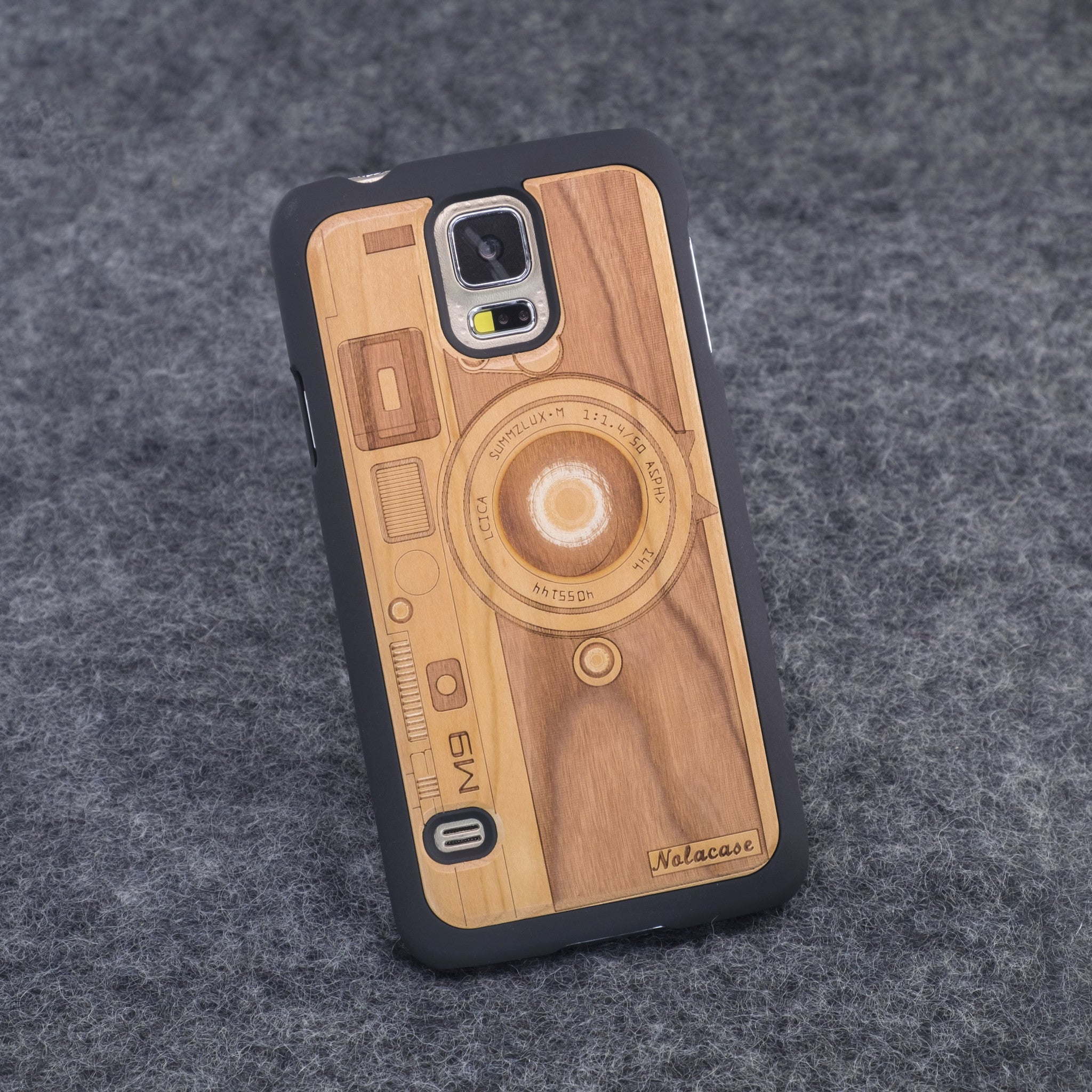 Samsung S5 M9 Camera Slim Wood Case - NOLACASE