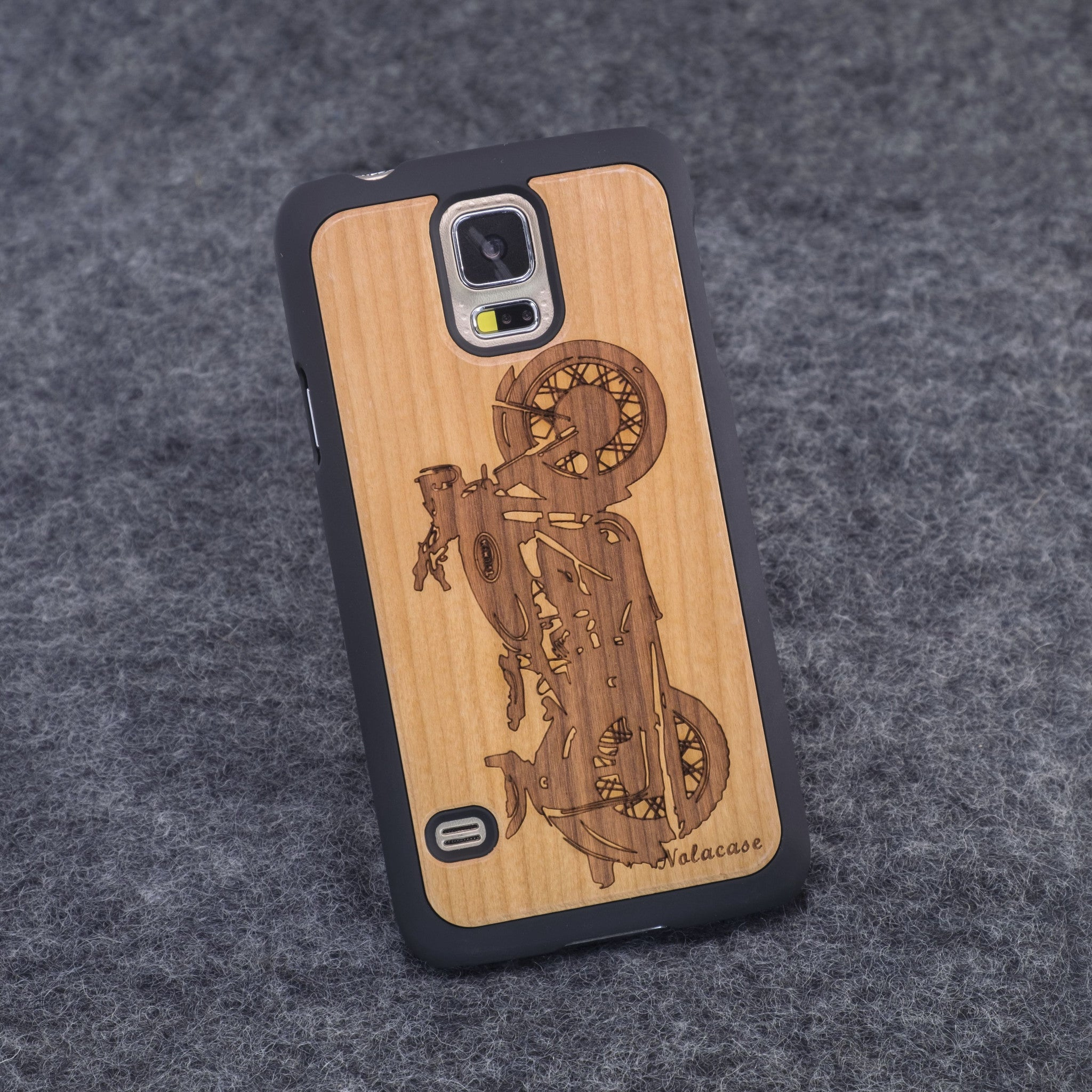 Samsung S5 Motorcycle Slim Wood Case - NOLACASE
