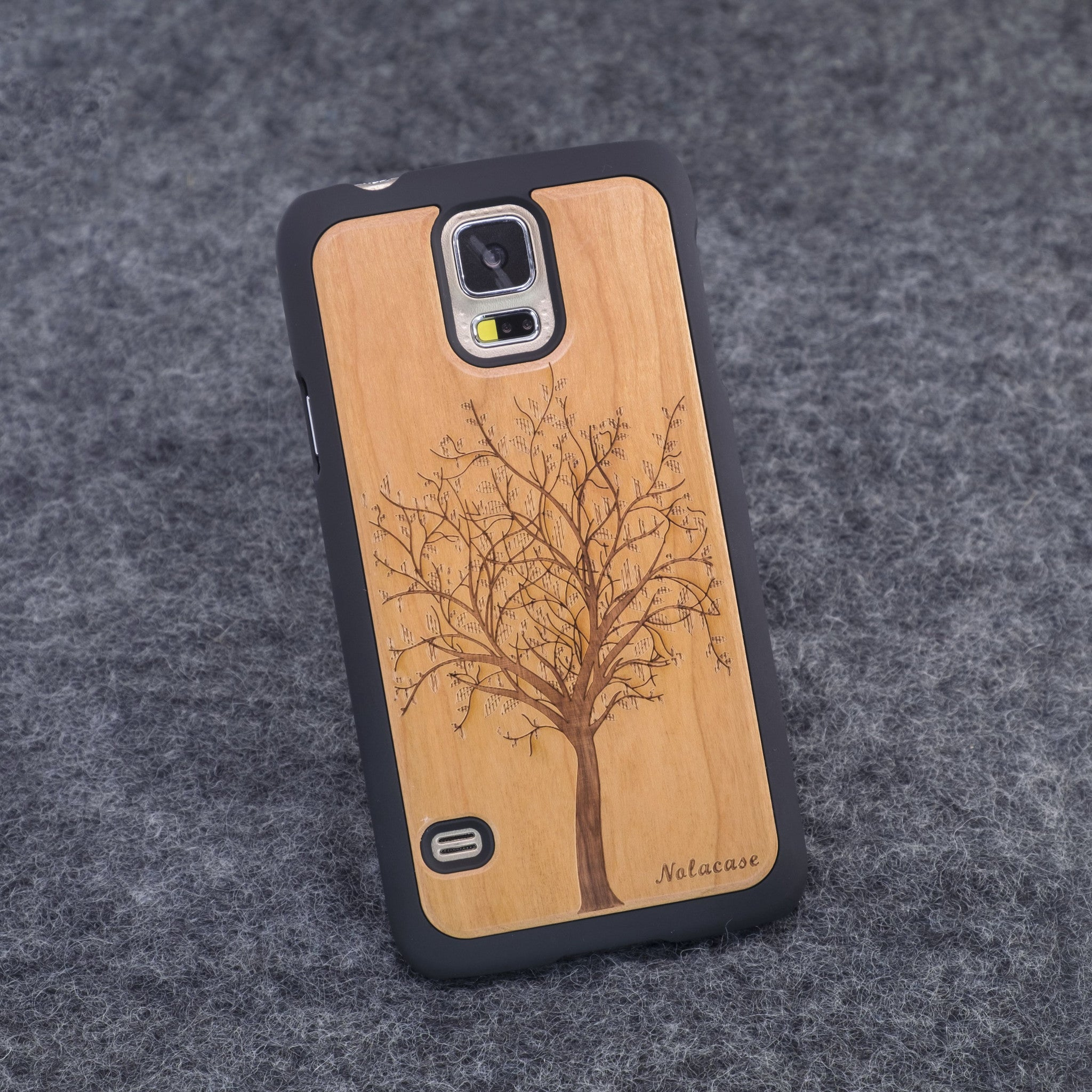 Samsung S5 Tree Slim Wood Case - NOLACASE