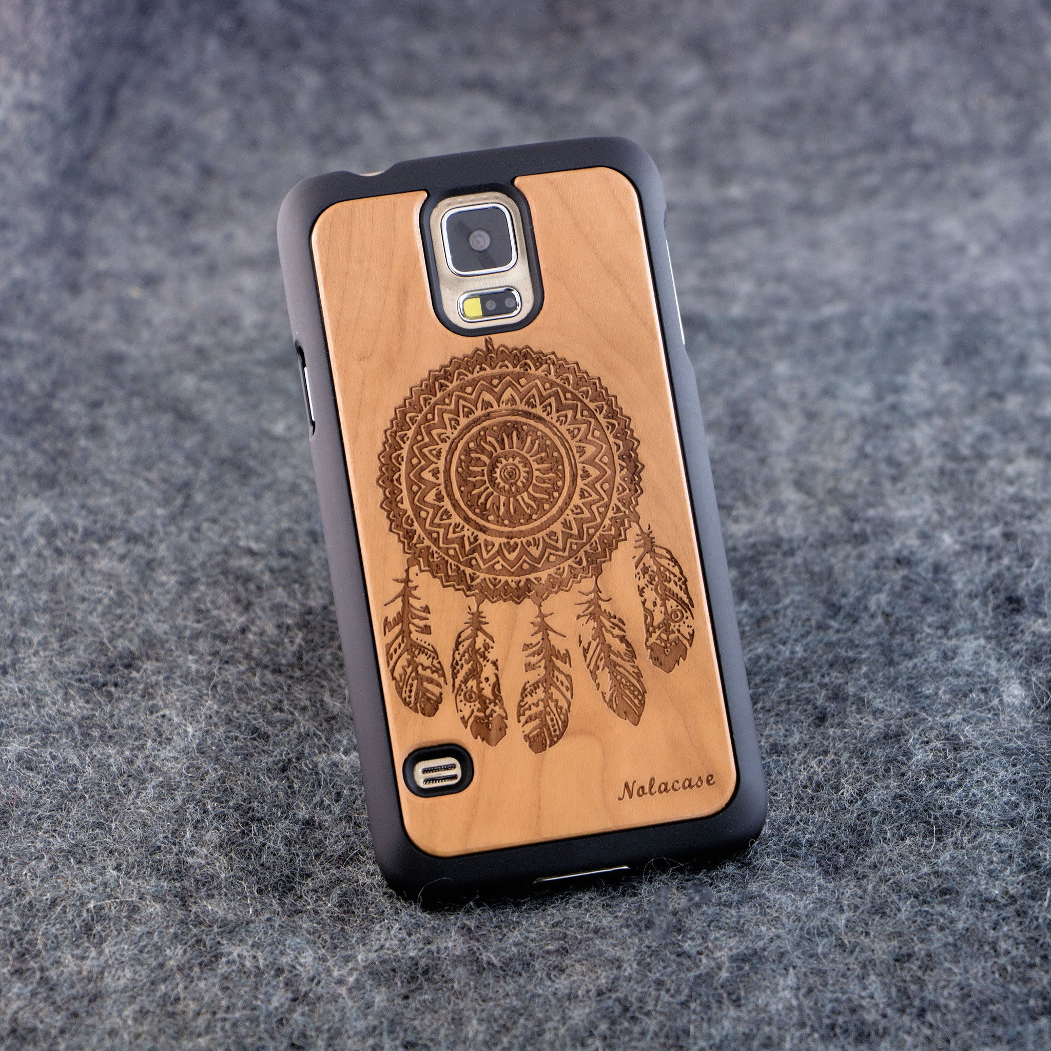 Samsung S5 Dream Catcher Slim Wood Case - NOLACASE
