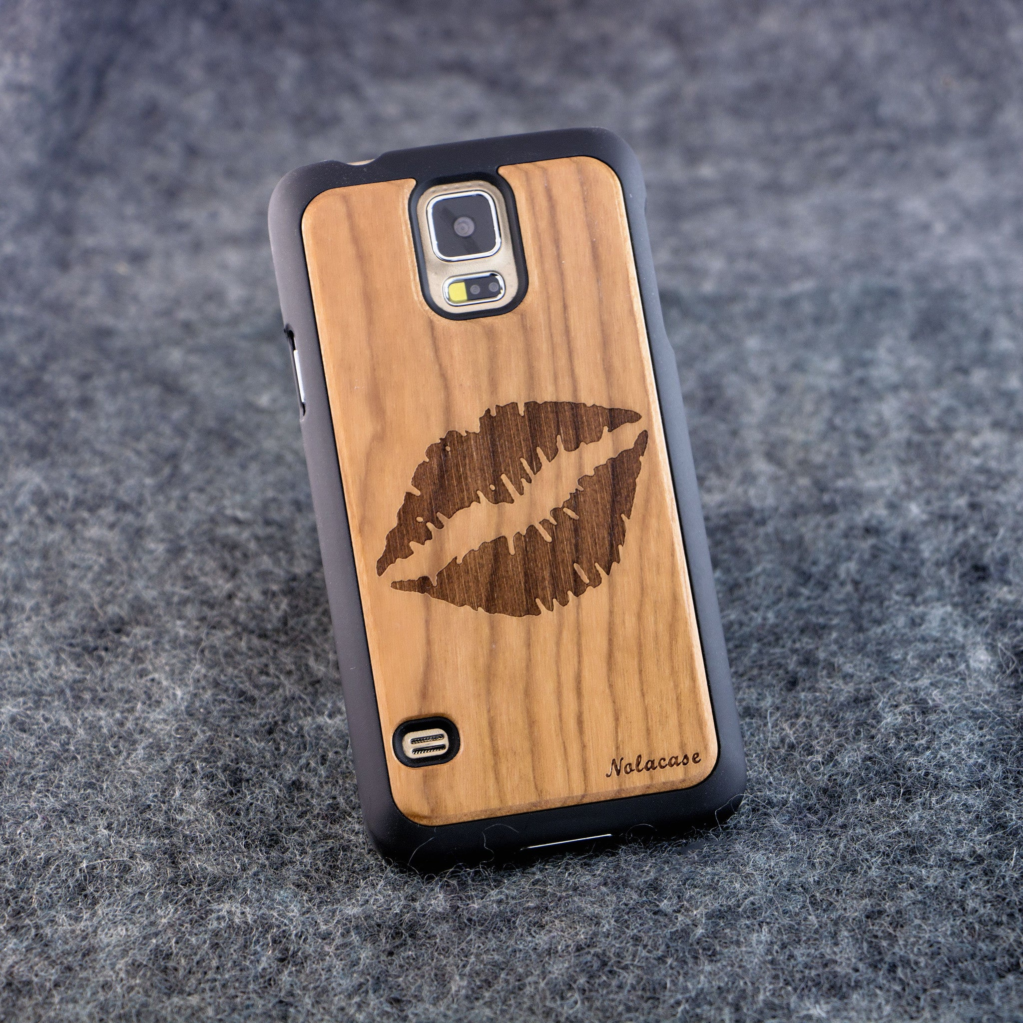 Samsung S5 Kiss Slim Wood Case - NOLACASE