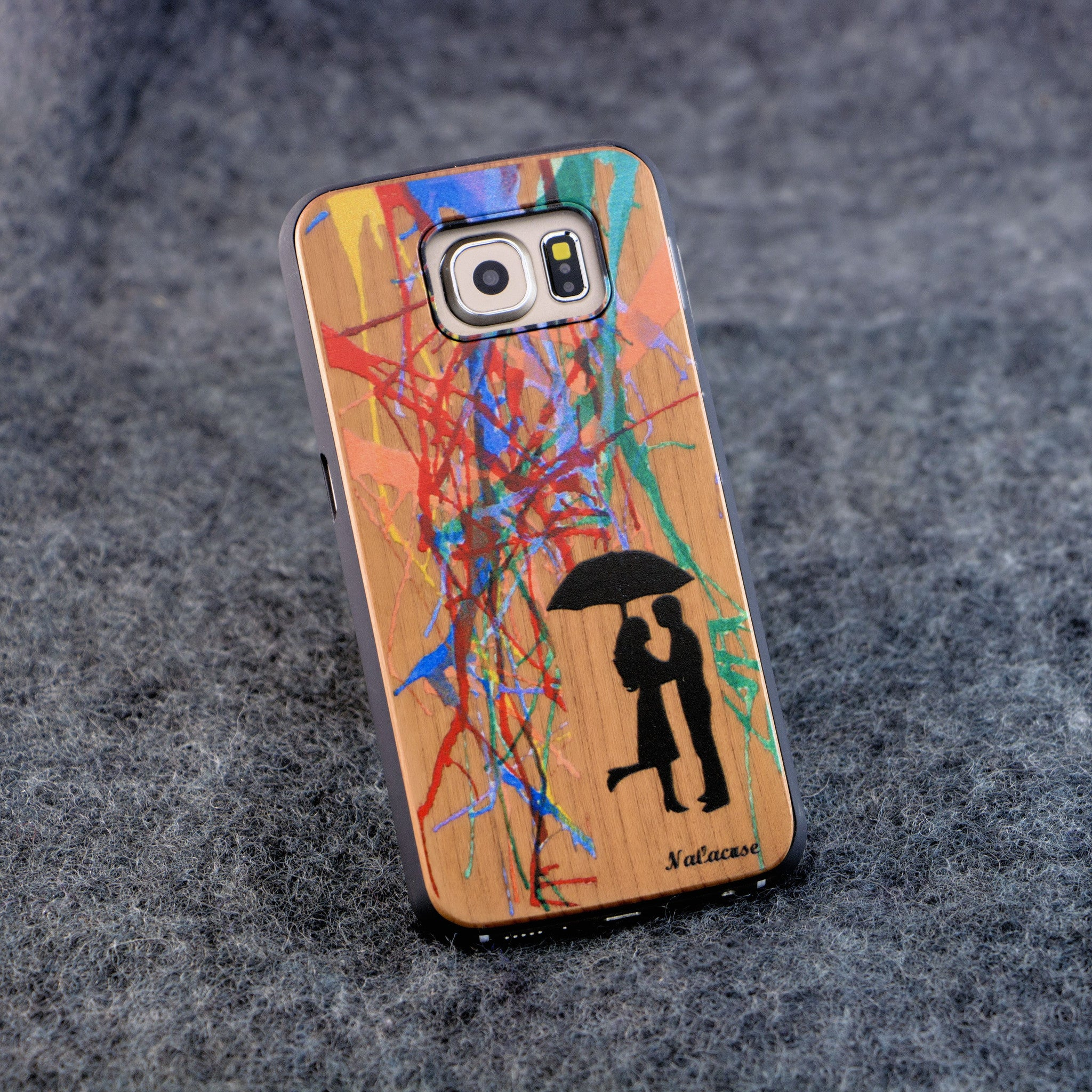 Samsung S6 Color Rain Color Slim Wood Case - NOLACASE