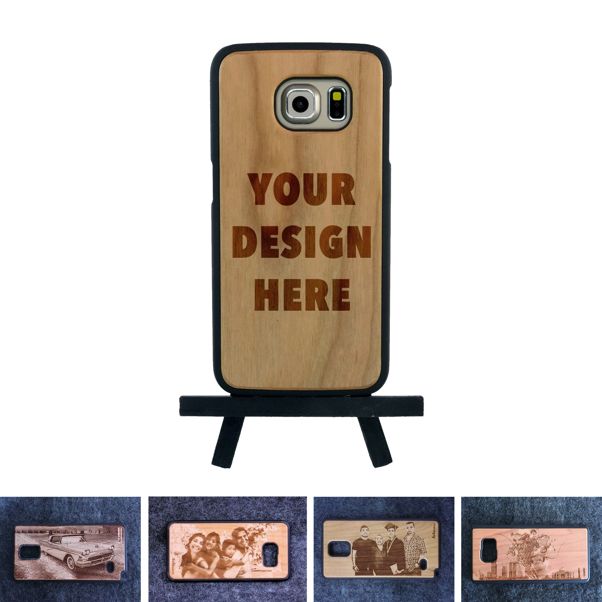 Samsung S6 Custom Slim Wood Case - NOLACASE - 1