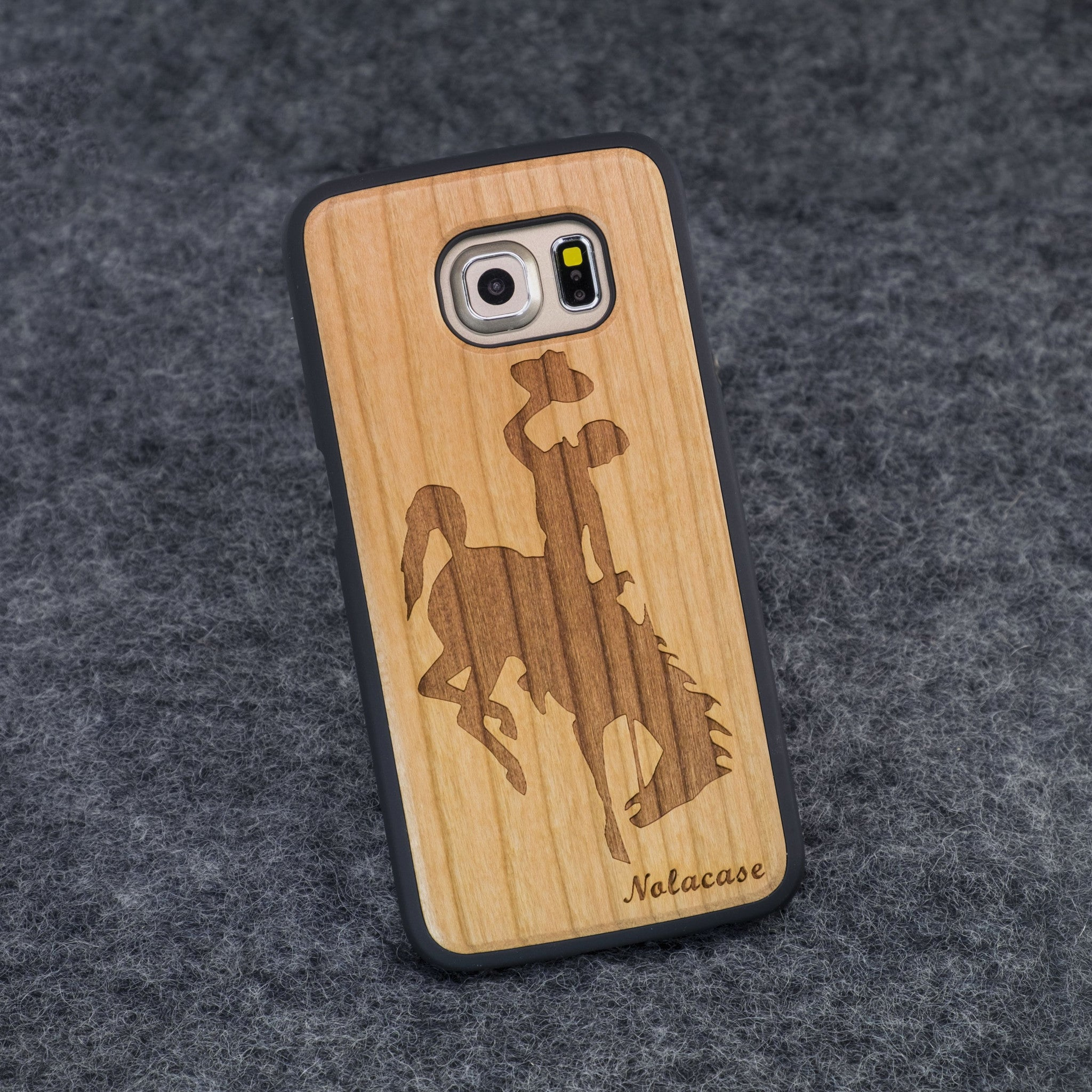 Samsung S6 Edge Rodeo Wood Case - NOLACASE