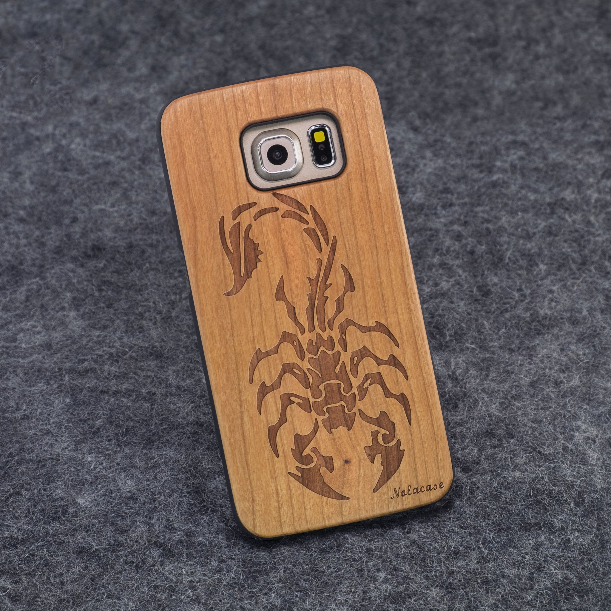 Samsung S6 Edge Scorpion Slim Wood Case - NOLACASE