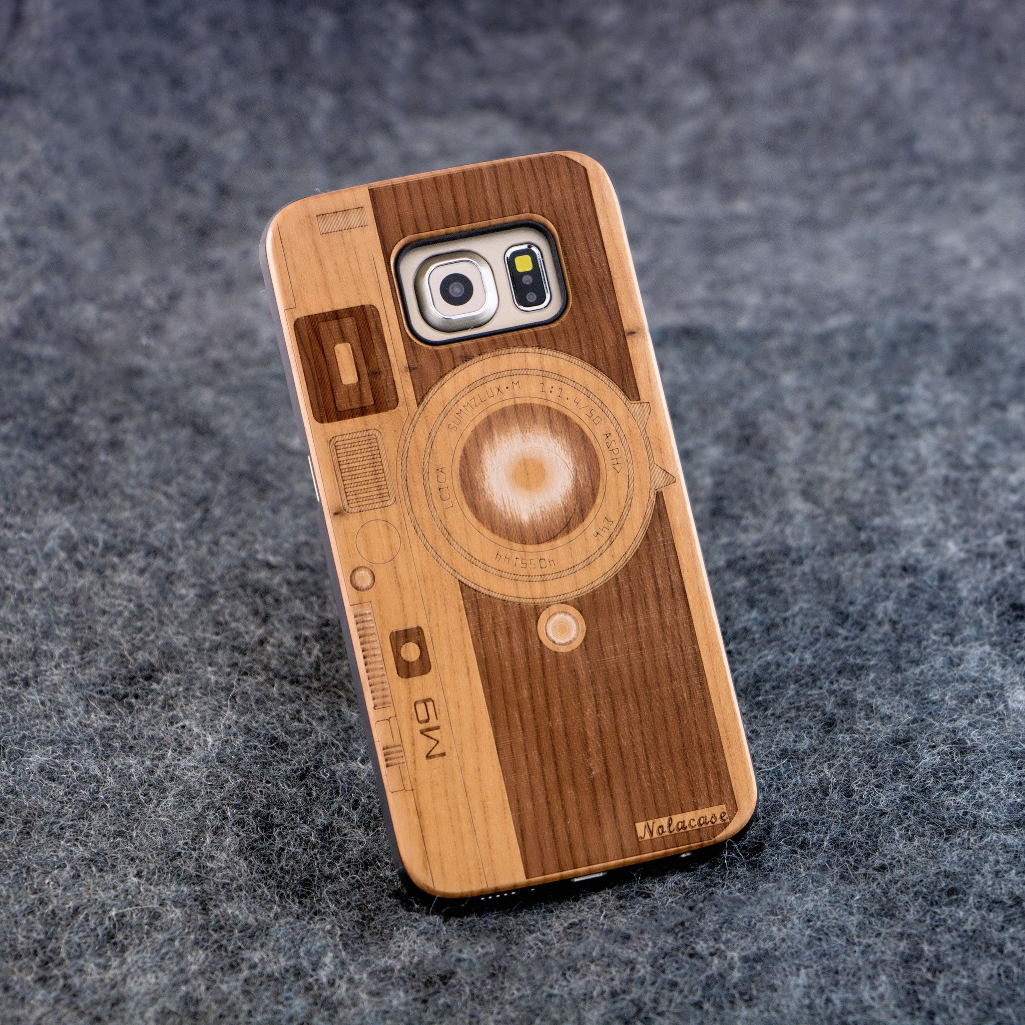 Samsung S6 Edge M9 Camera Wood Case - NOLACASE - 1