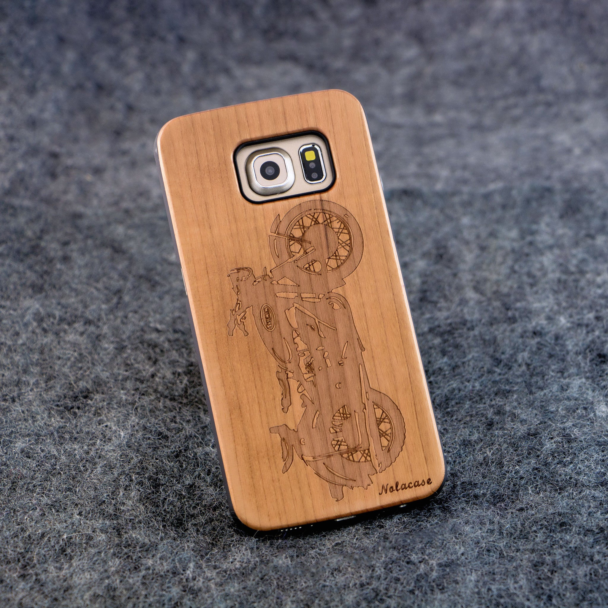 Samsung S6 Edge Motorcycle Wood Case - NOLACASE