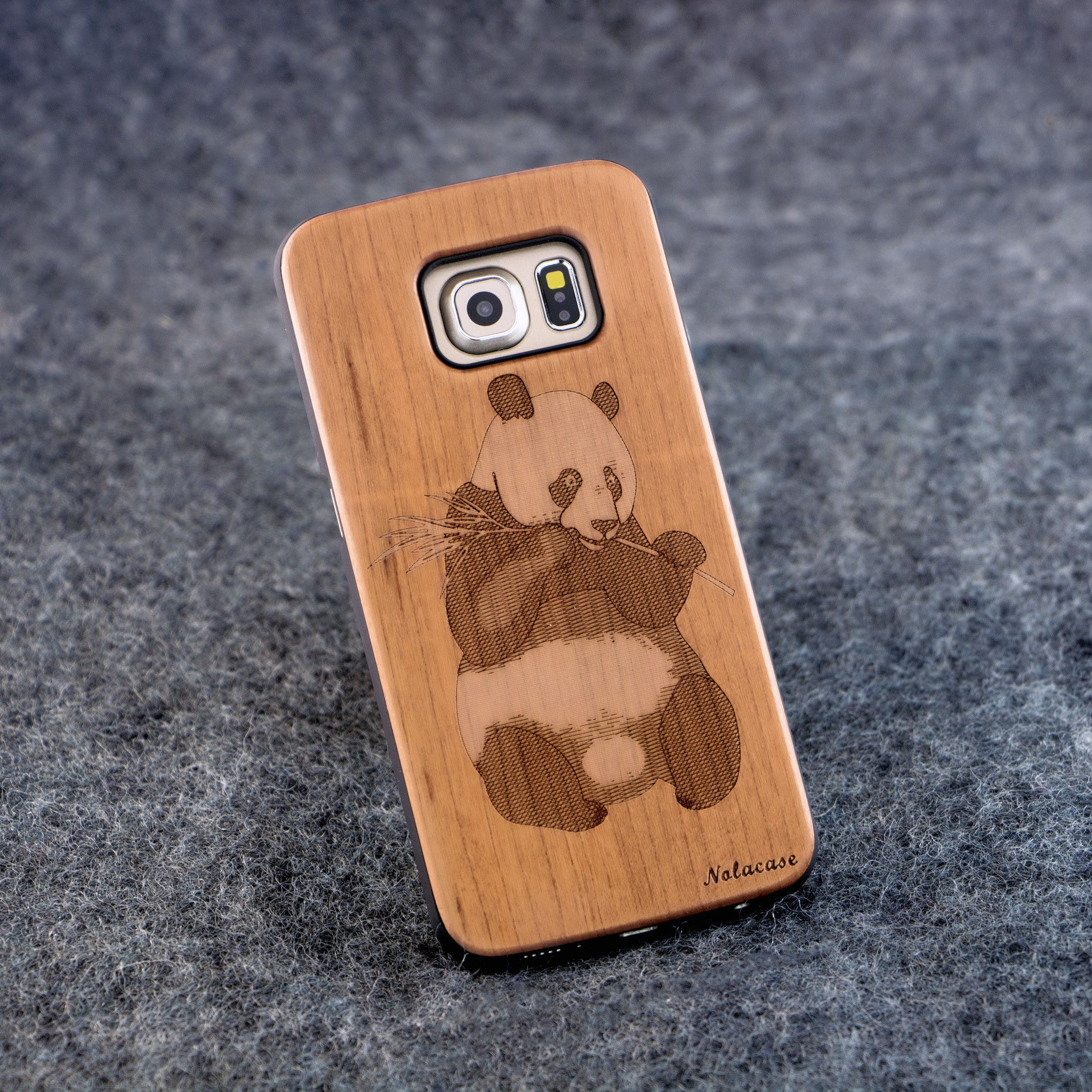 Samsung S6 Edge Panda Slim Wood Case - NOLACASE