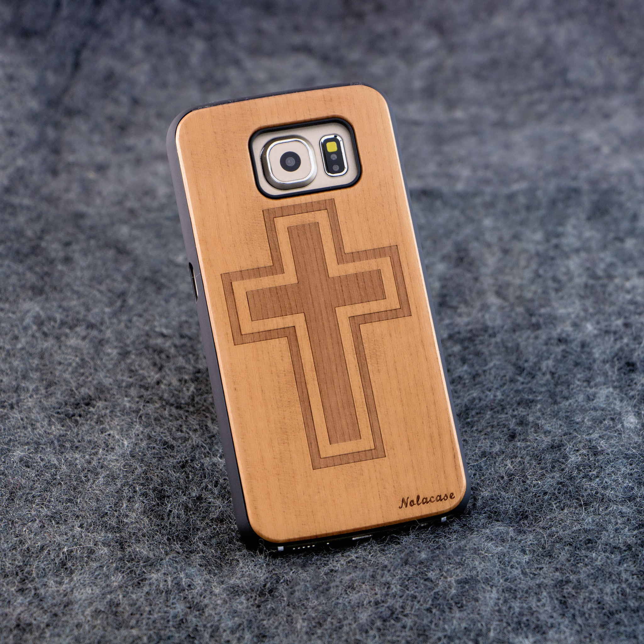 Samsung S6 Cross Slim Wood Case - NOLACASE