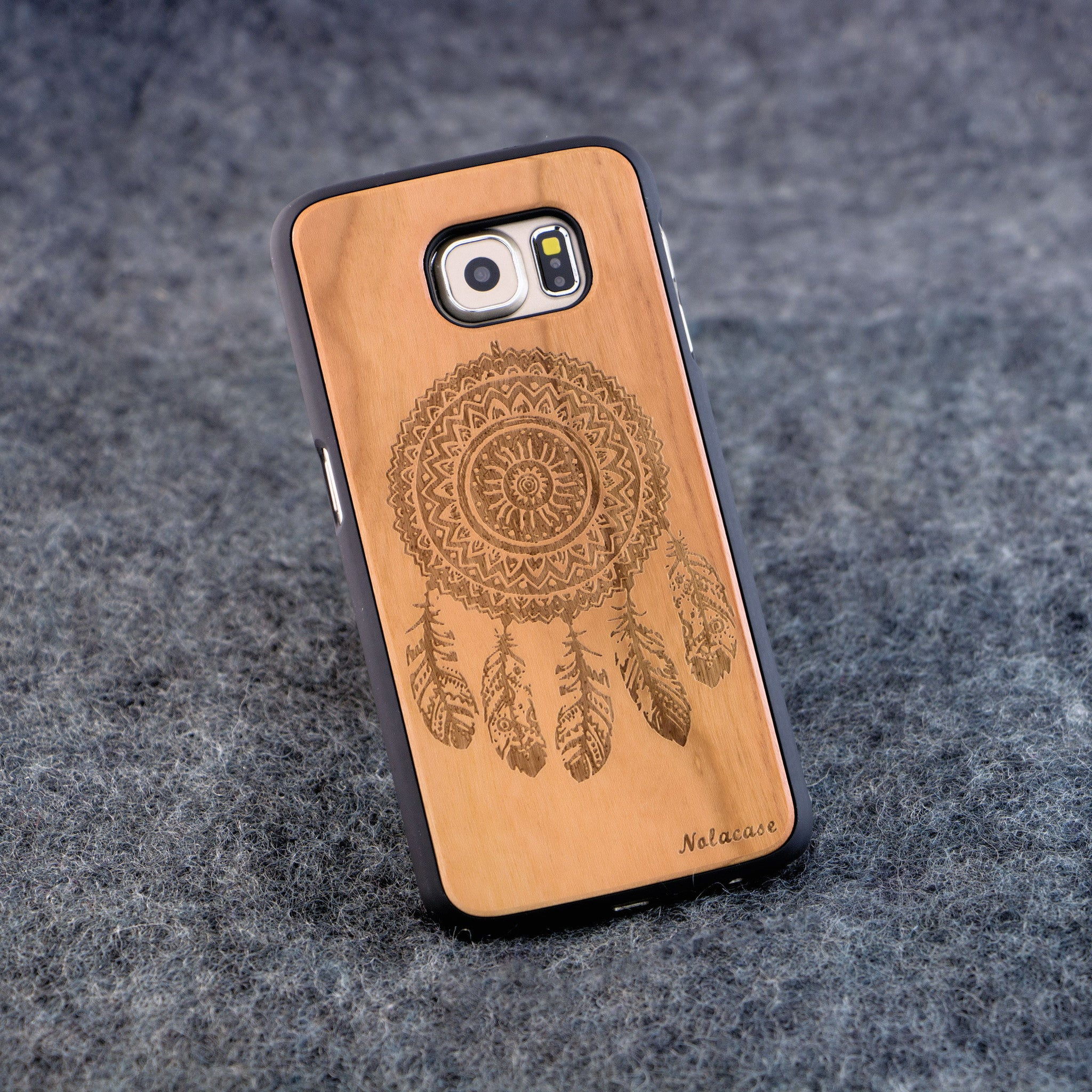 Samsung S6 Dream Catcher Slim Wood Case - NOLACASE