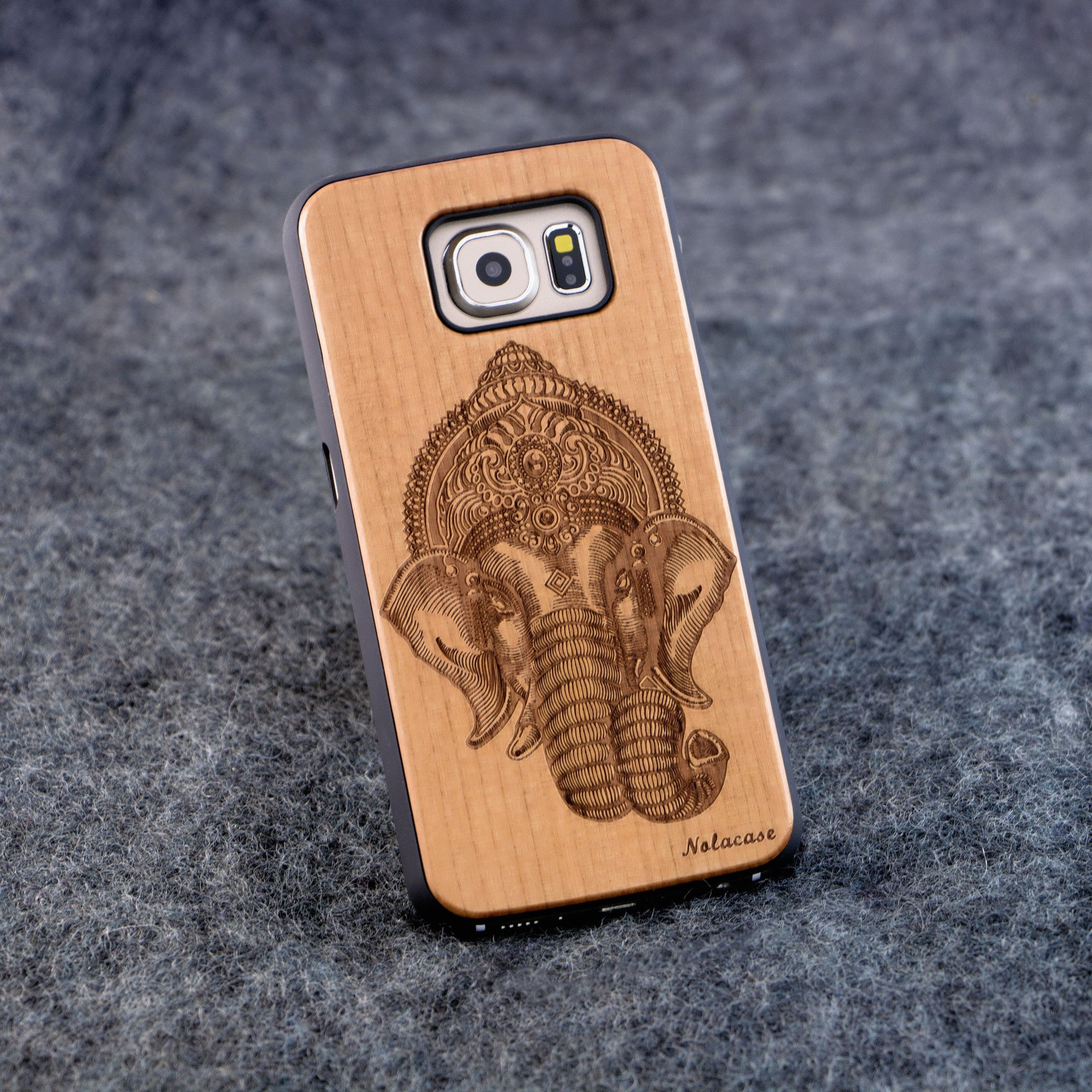 Samsung S6 Indian Elephant Slim Wood Case - NOLACASE