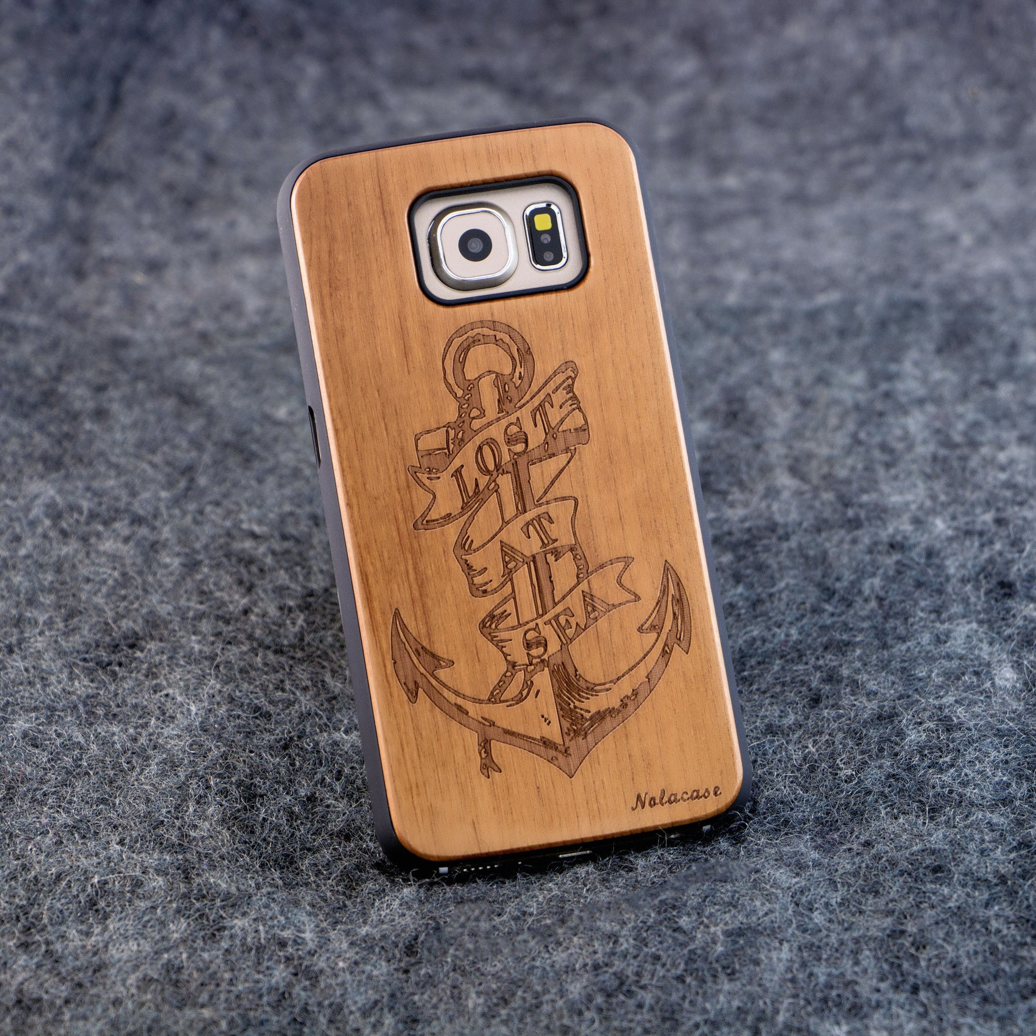 Samsung S6 Lost at Sea Slim Wood Case - NOLACASE