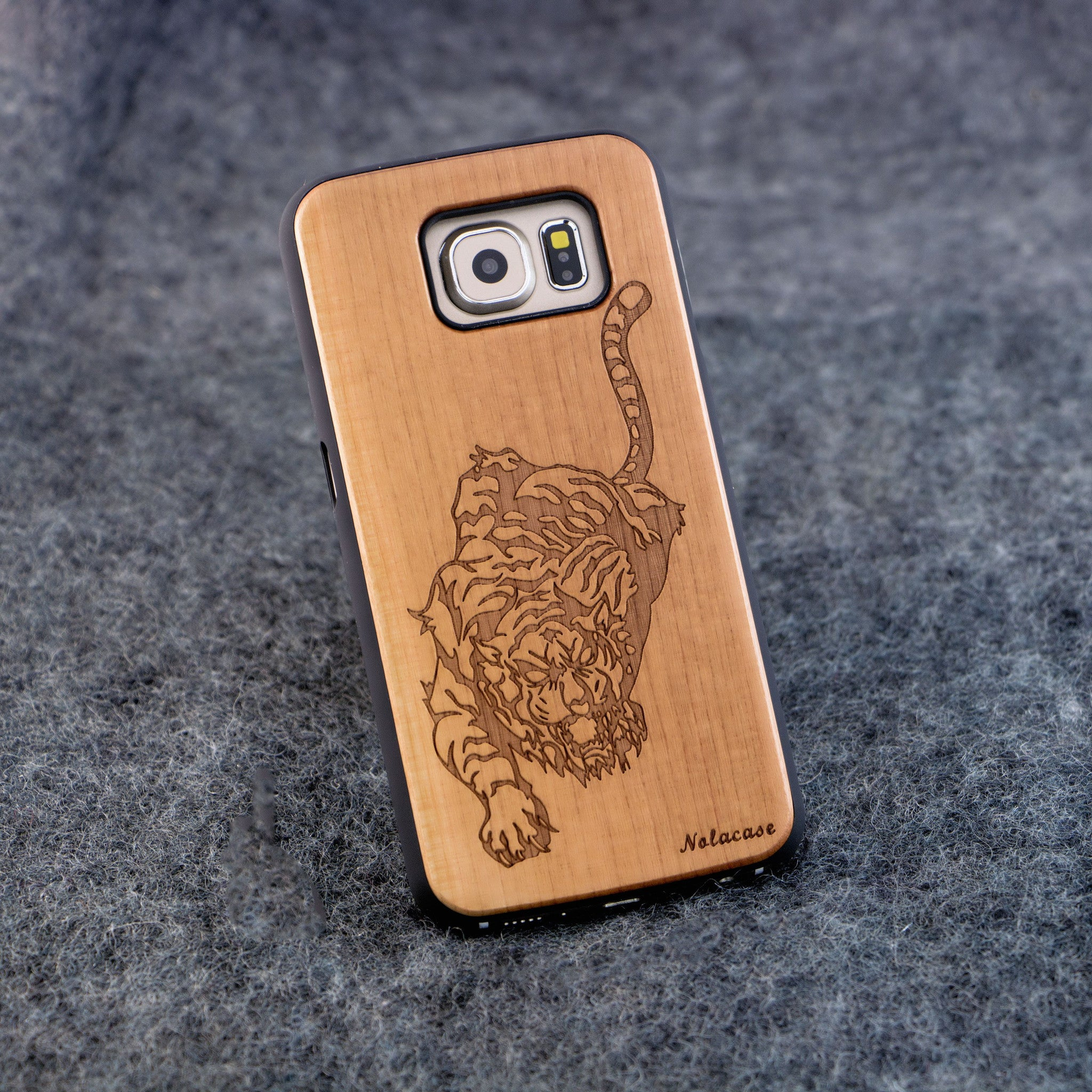 Samsung S6 Tiger Slim Wood Case - NOLACASE