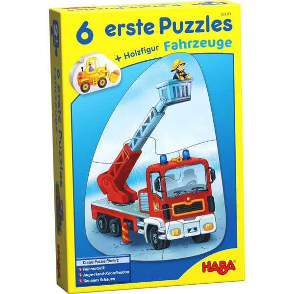6 Little Hand Puzzles – Vehicles