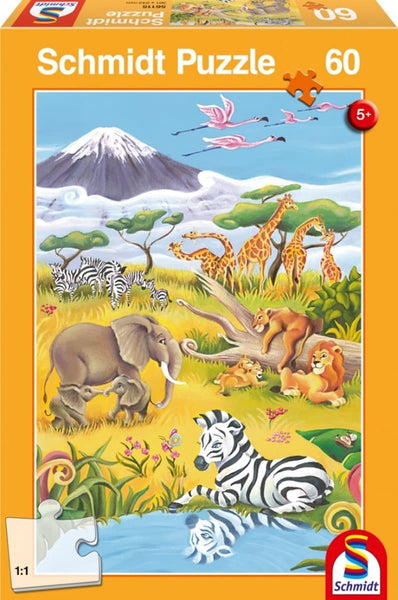 Puzle, 60 - Animals of the Savanna
