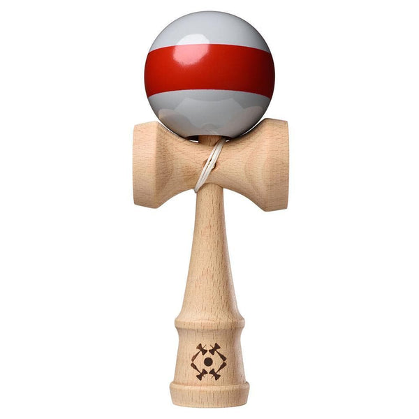 Tribute Kendama - Grey with Blood Red Single Stripe