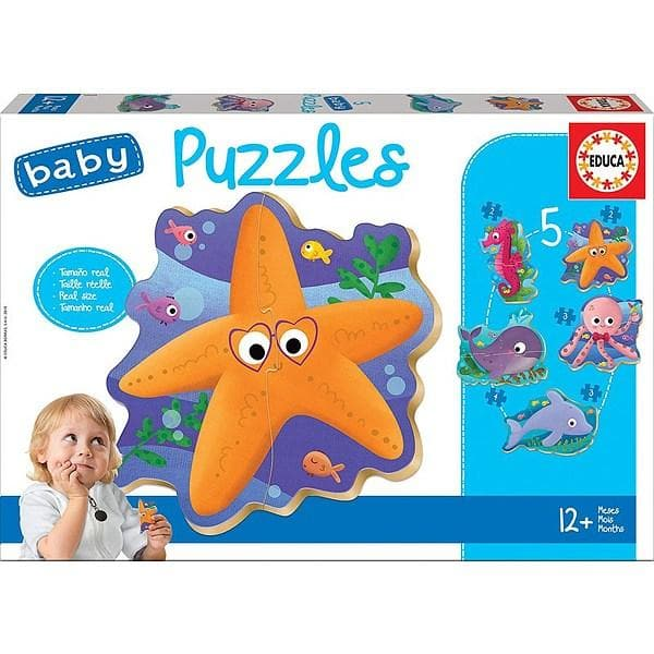 Puzle - Baby Puzzle: SEA ANIMALS