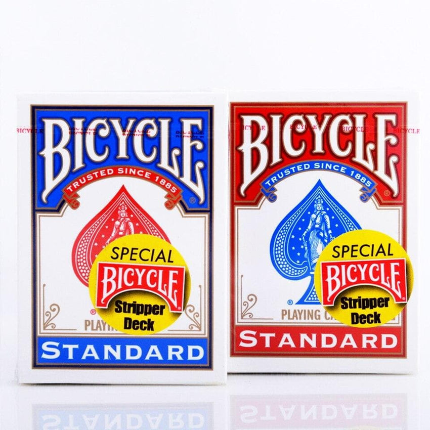 BICYCLE STRIPPER DECK BLUE/RED