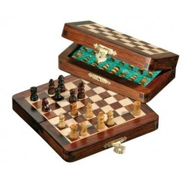 Chess travel mini, magnetic, field 12 mm