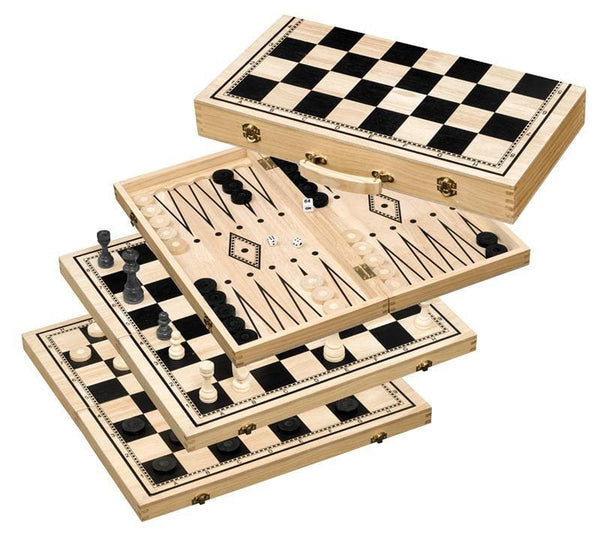 Chess-Backgammon-Checkers Set, 50 mm field