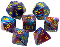 Chessex Fest Mosaic Yellow dice set