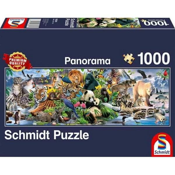 Colorful animal kingdom,Panorama 1000 pcs