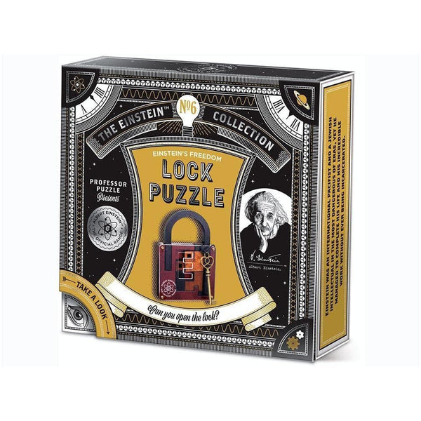 great minds, the einstein collection, lock puzzle, prata mežģis