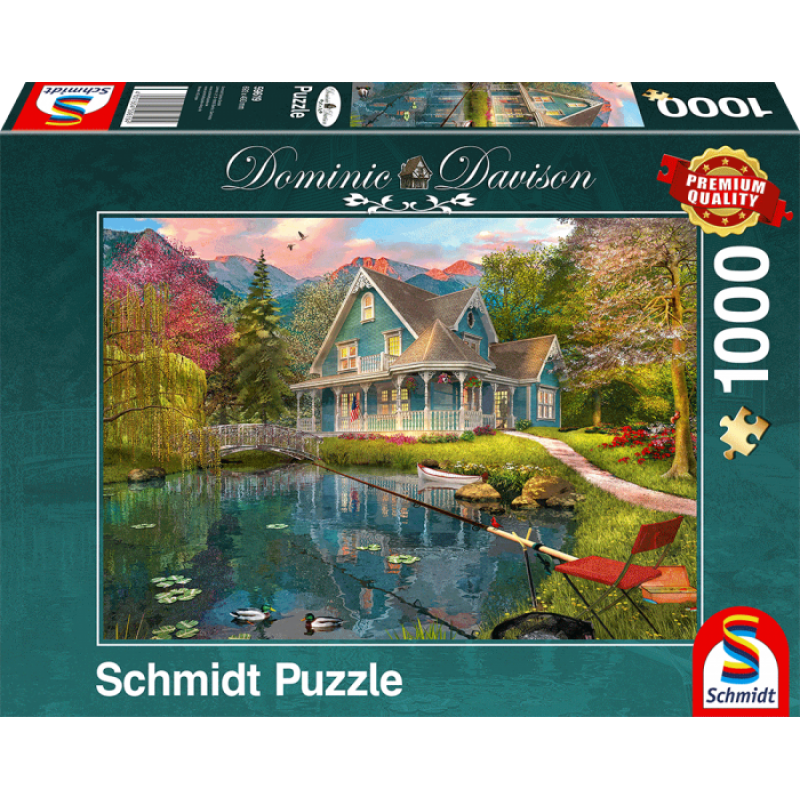 Puzle, 1000 - Lakeside retirement home