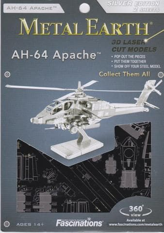 Metal Earth: AH-64 Apache, konstruktors