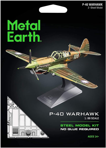 Metal Earth - P-40 Warhawk, konstruktors